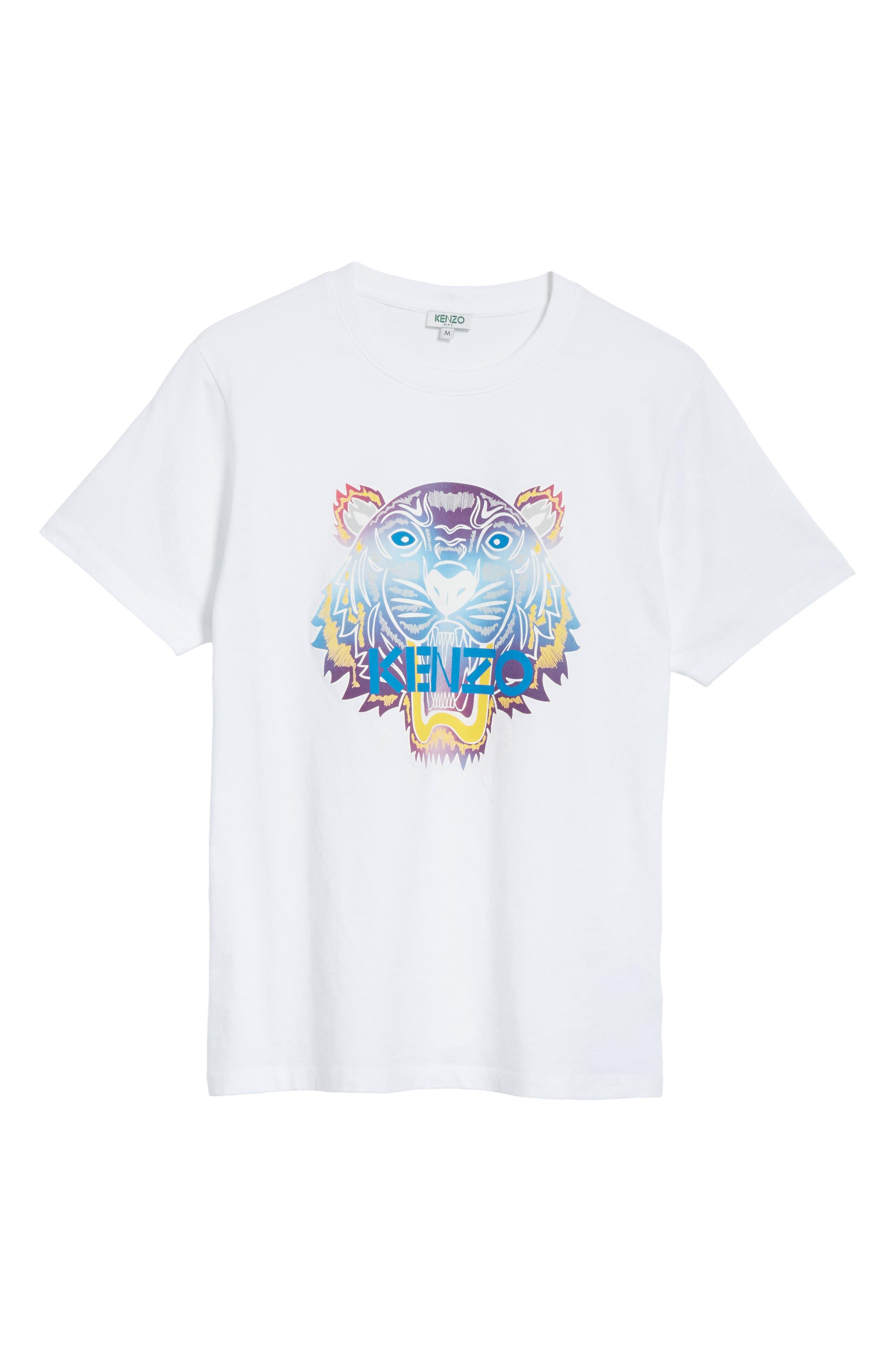 Rainbow Tiger Graphic T-Shirt,                             Alternate thumbnail 6, color,