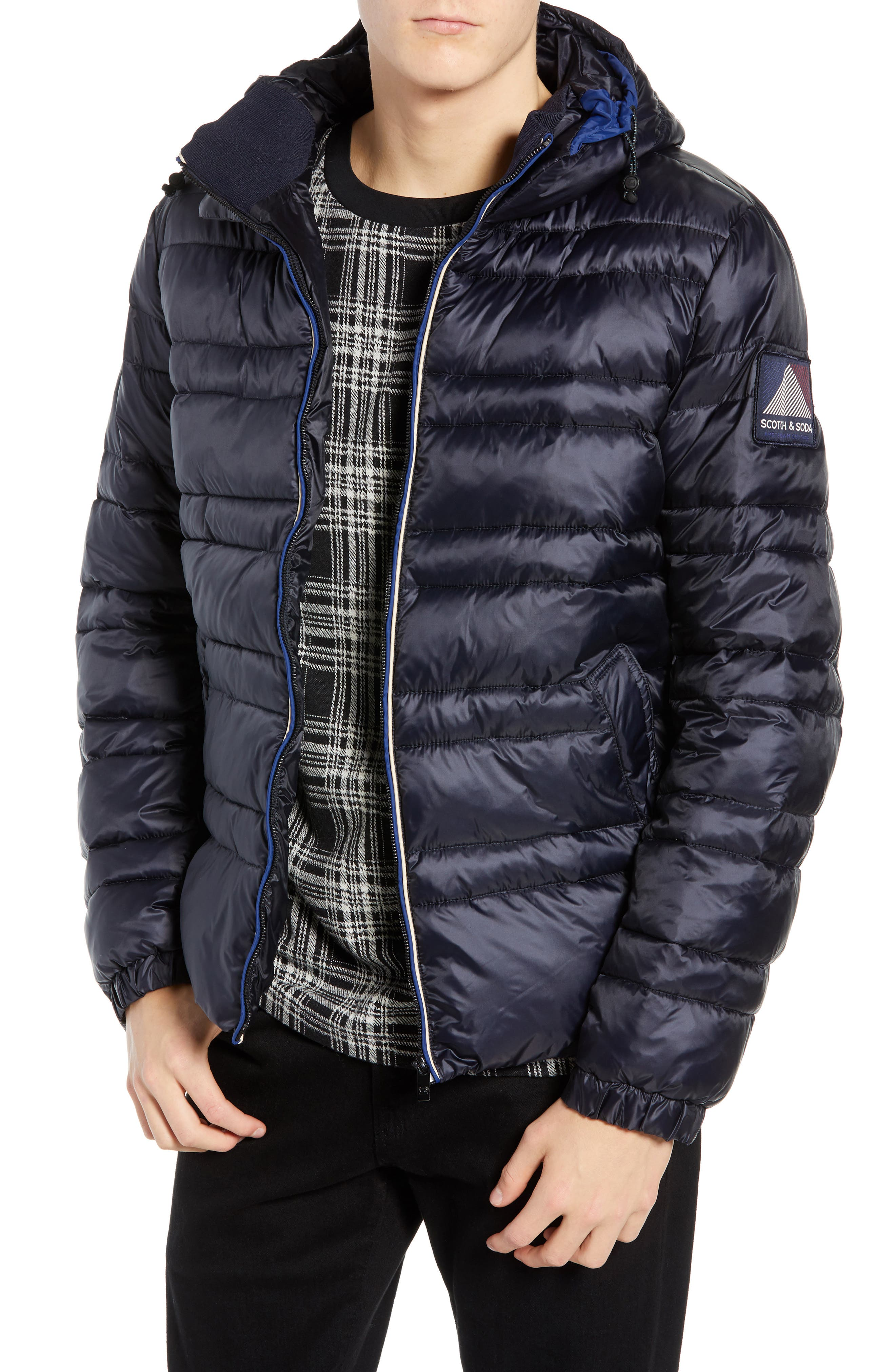 Quilted Puffer Jacket,                         Main,                         color, NIGHT