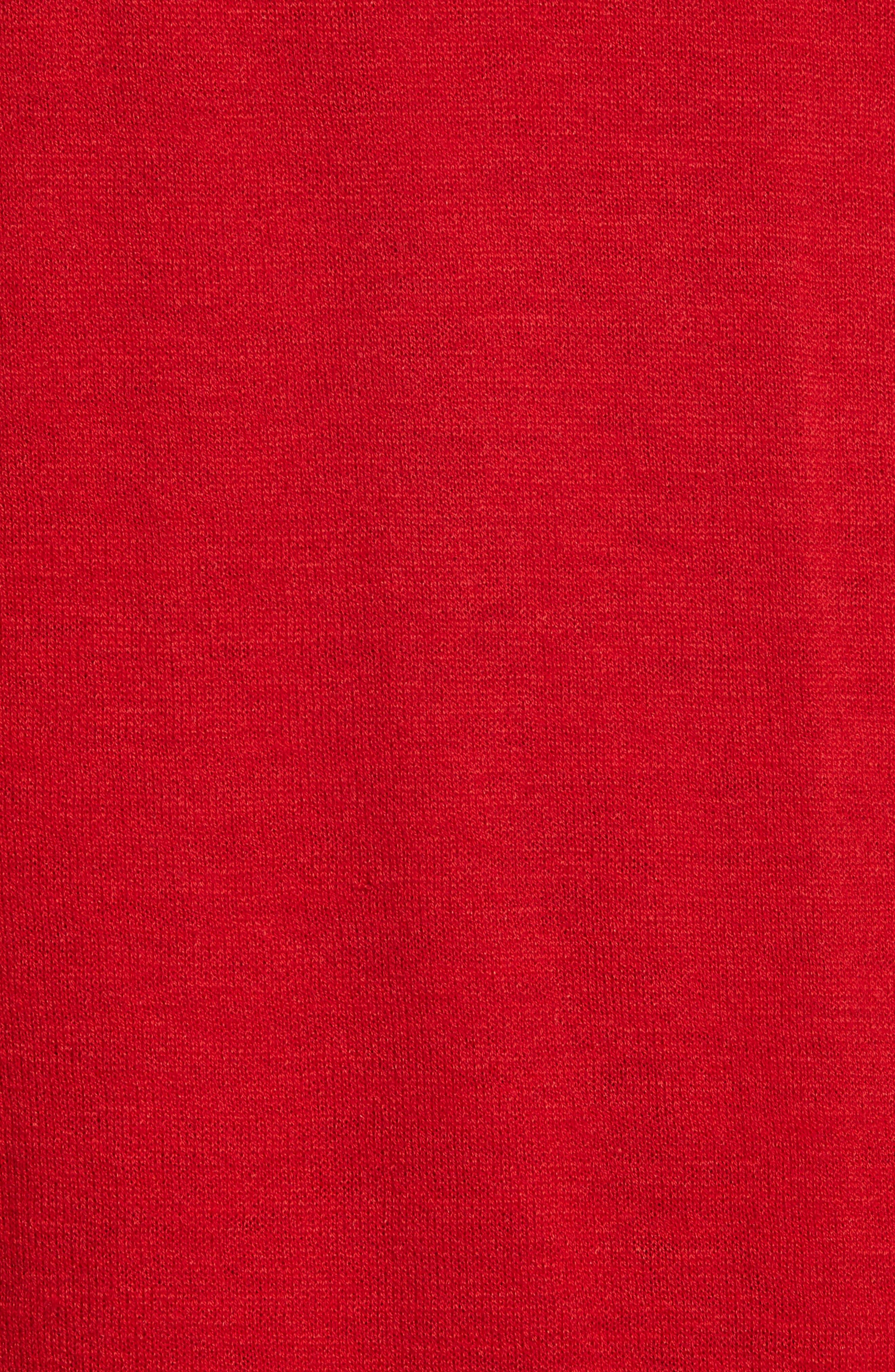Sheer Panel Wool & Silk Turtleneck Sweater,                             Alternate thumbnail 5, color,                             641
