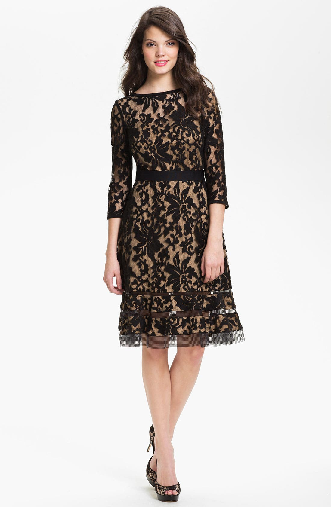 Lace Overlay Dress,                             Alternate thumbnail 18, color,