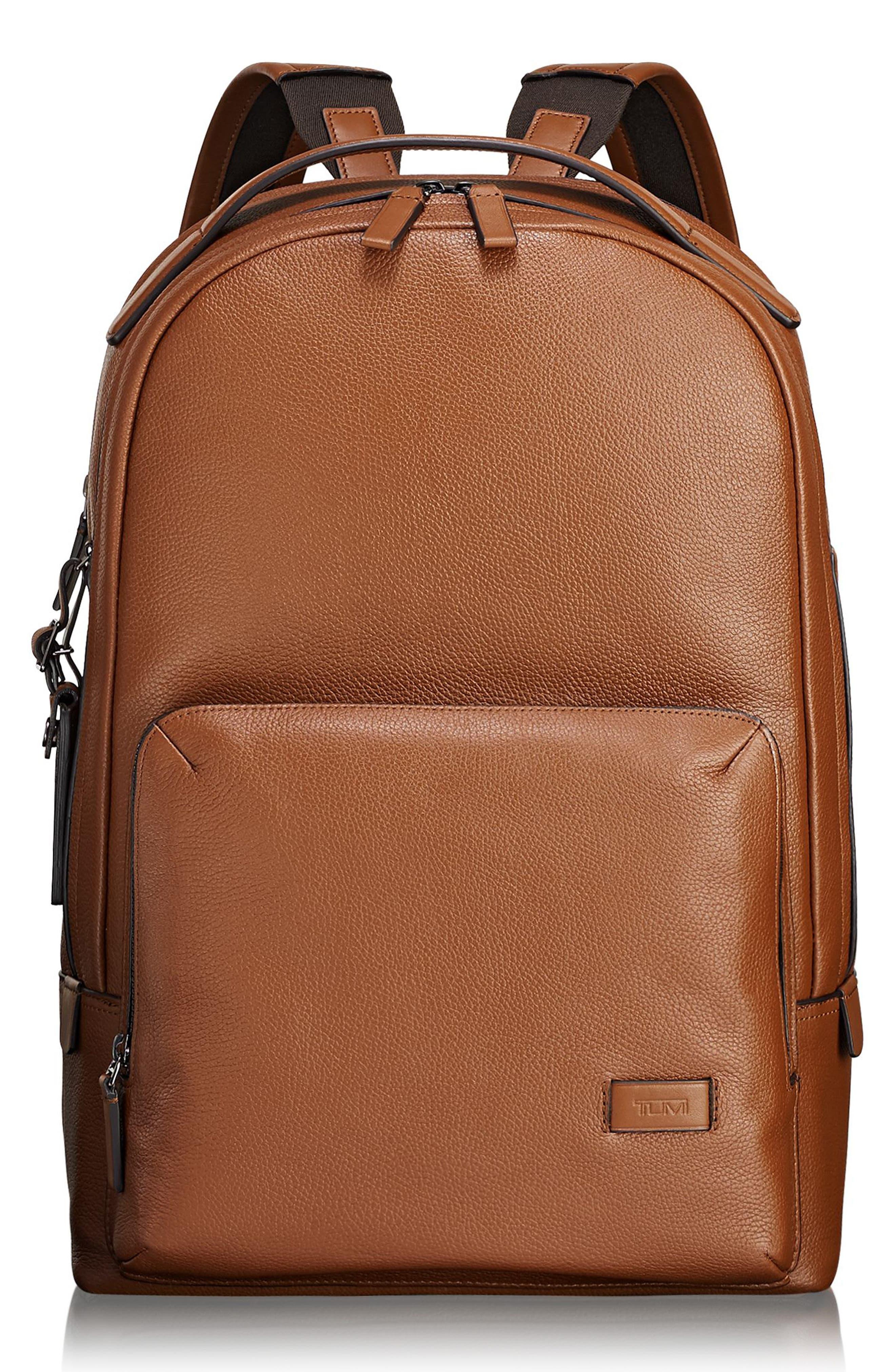Harrison - Webster Backpack,                         Main,                         color, UMBER PEBBLED