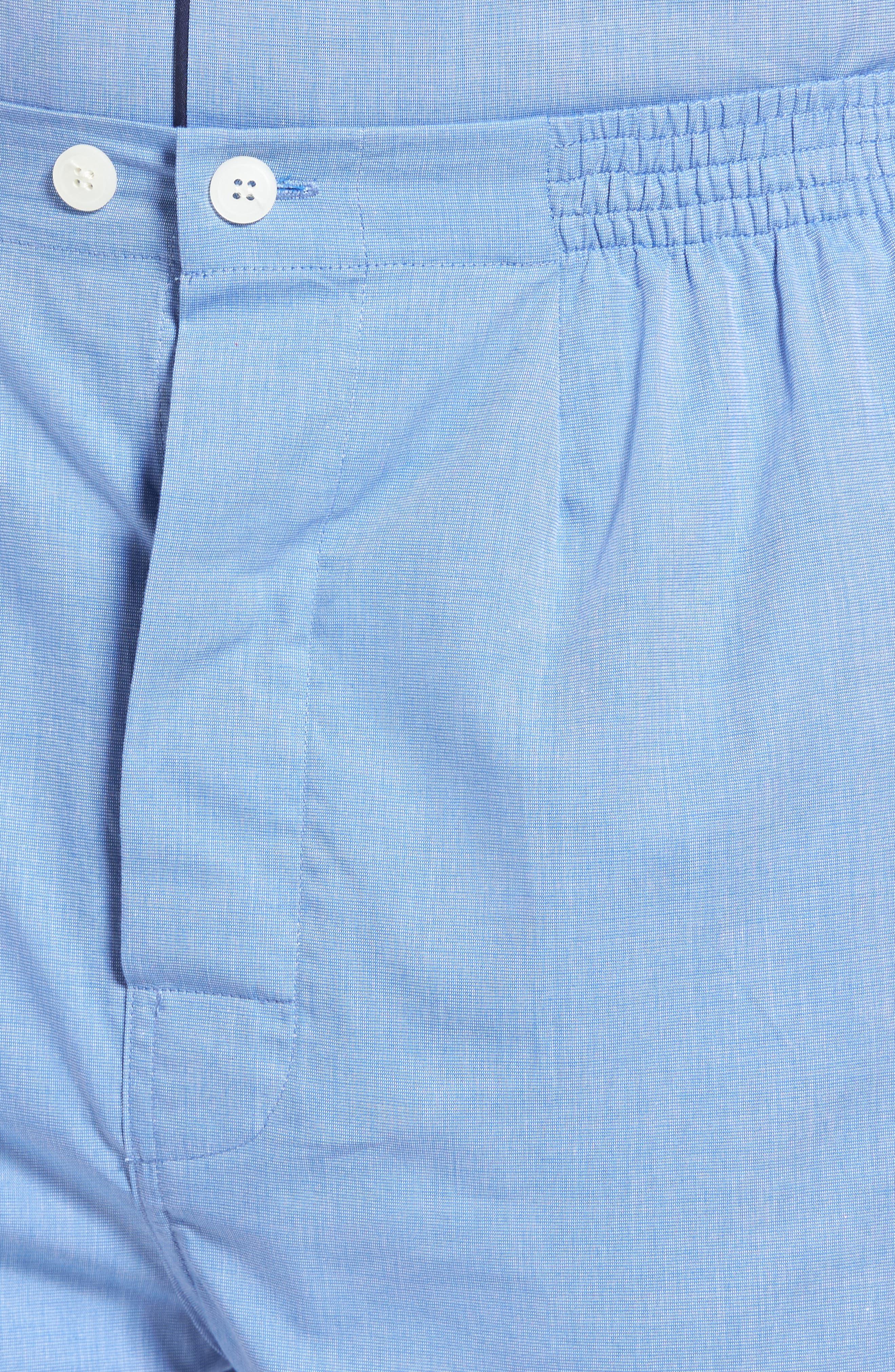 Cotton Short Pajamas,                             Alternate thumbnail 4, color,                             BLUE