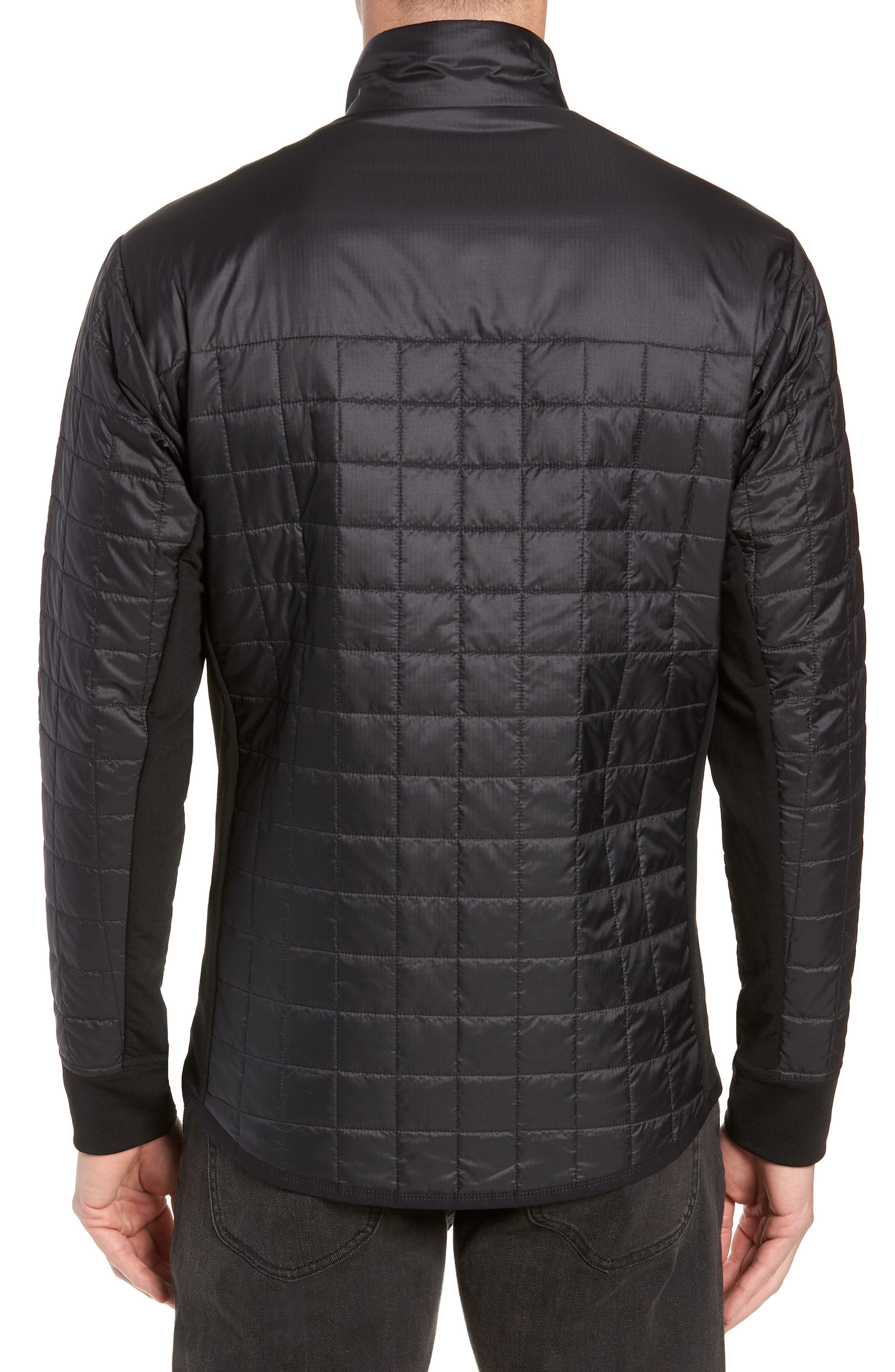 MerinoLOFT<sup>™</sup> Helix Midlayer Zip Jacket,                             Alternate thumbnail 2, color,                             BLACK/ JET HEATHER