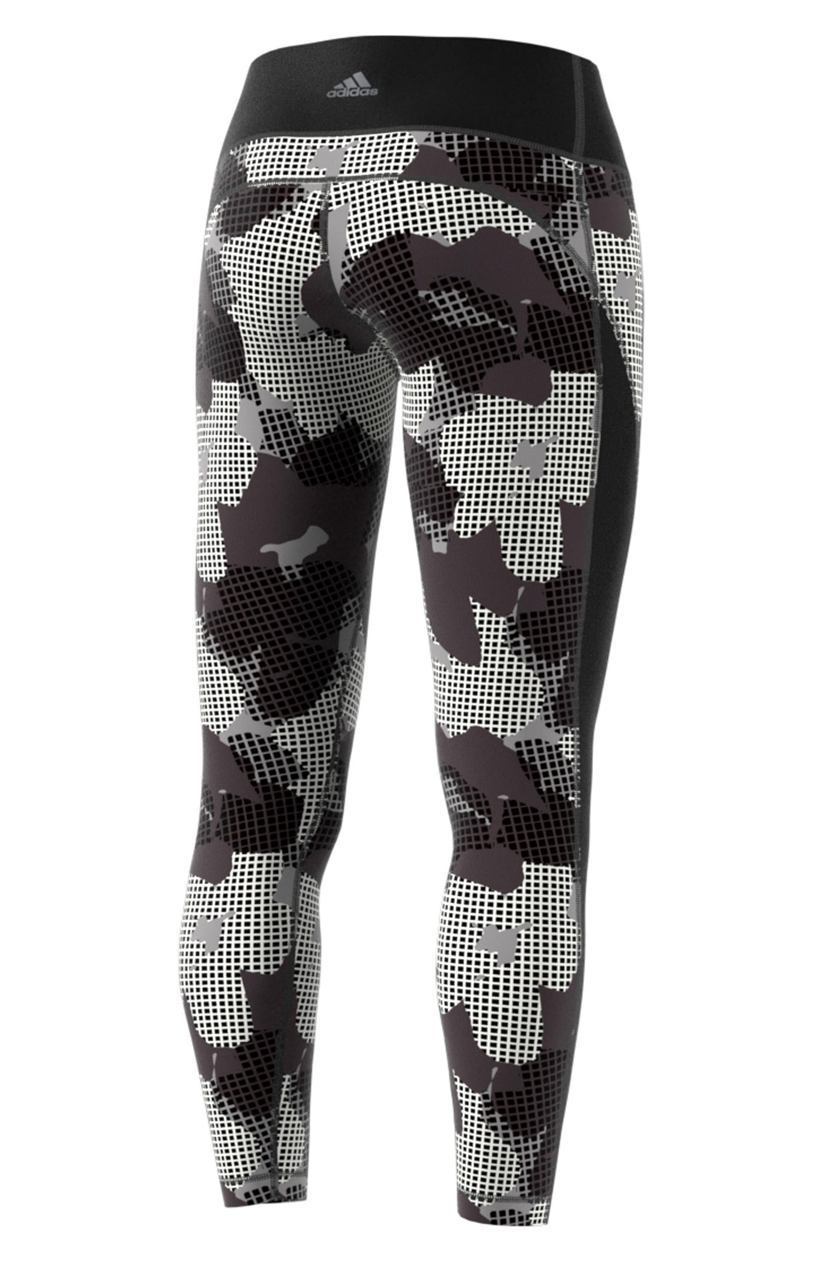 Heatracer Leggings,                             Alternate thumbnail 7, color,                             BLACK/ PRINT