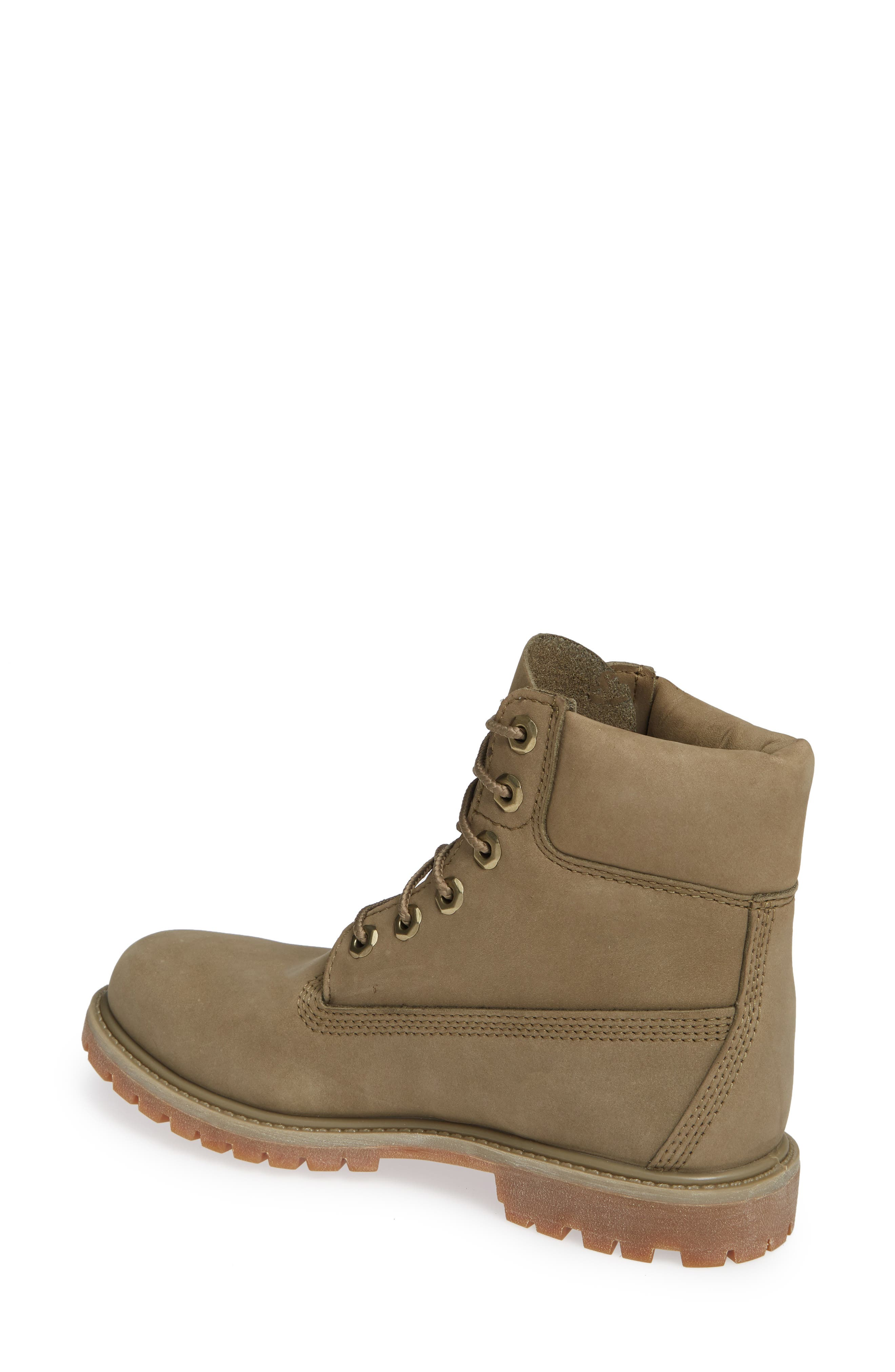 '6 Inch Premium' Waterproof Boot,                             Alternate thumbnail 2, color,                             COVERT GREEN LEATHER