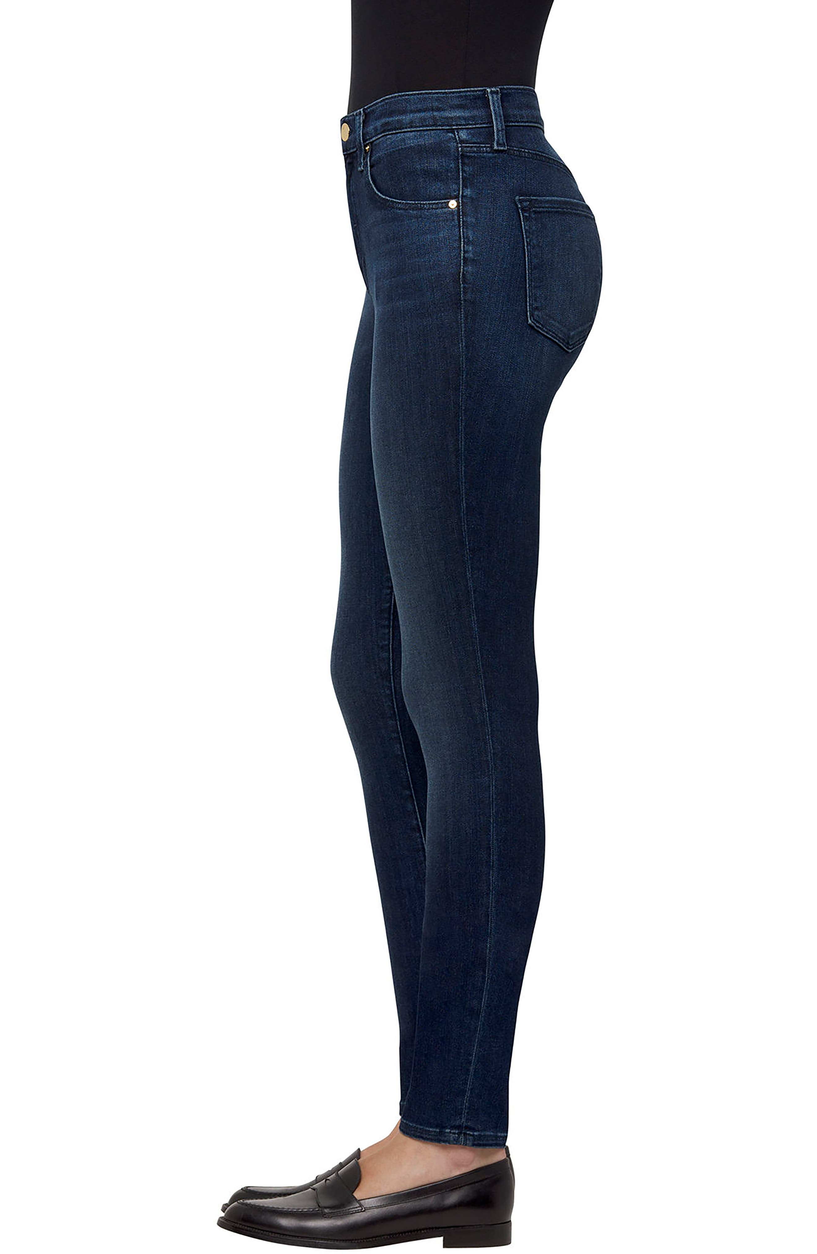 Maria High Waist Skinny Jeans,                             Alternate thumbnail 3, color,                             413