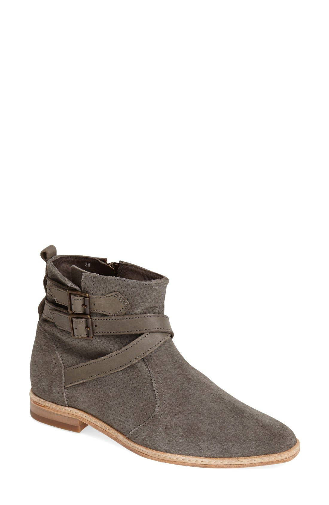 'Tab' Suede Chelsea Bootie,                             Main thumbnail 1, color,