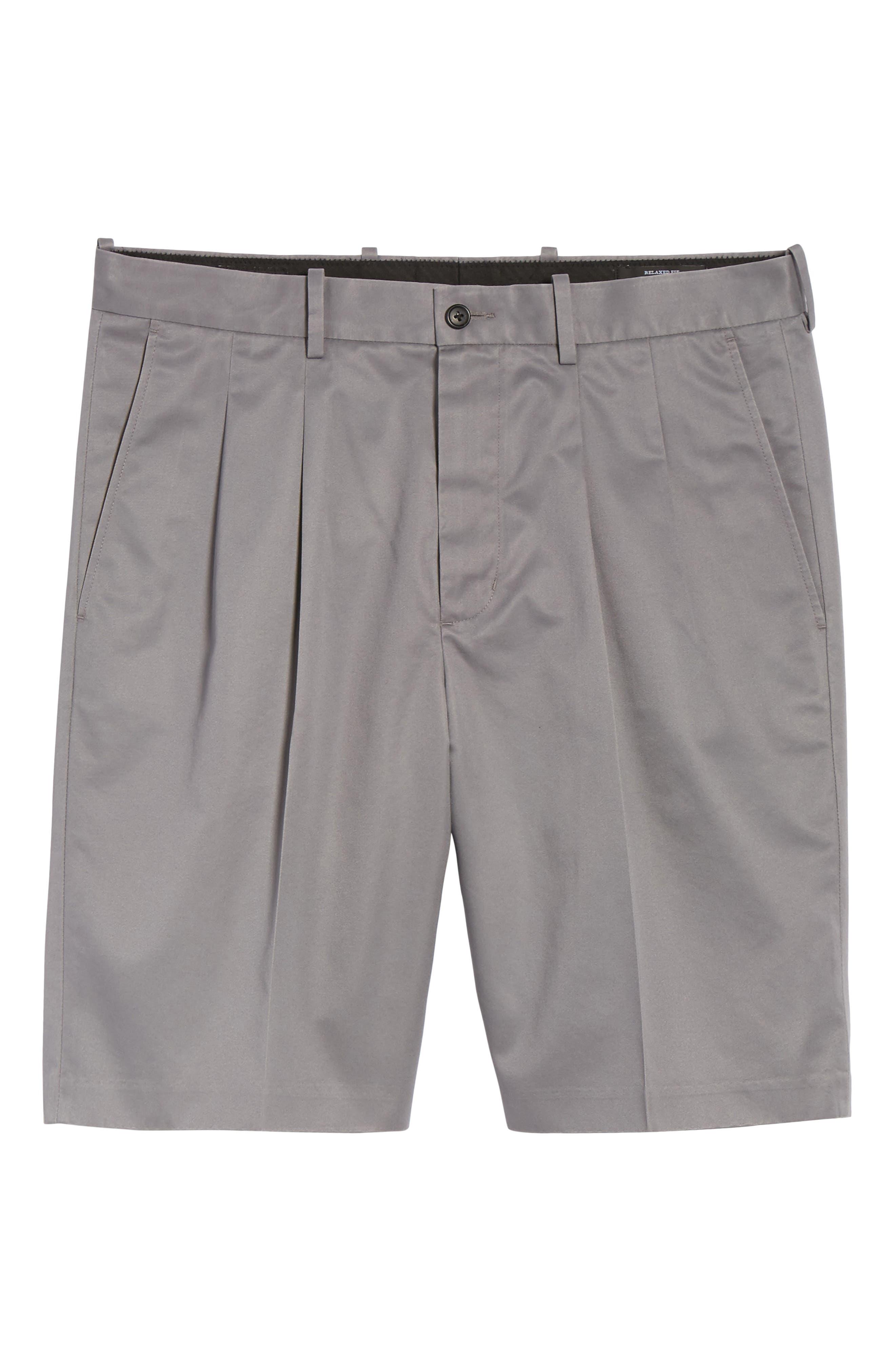 Pleated Supima<sup>®</sup> Cotton Shorts,                             Alternate thumbnail 27, color,