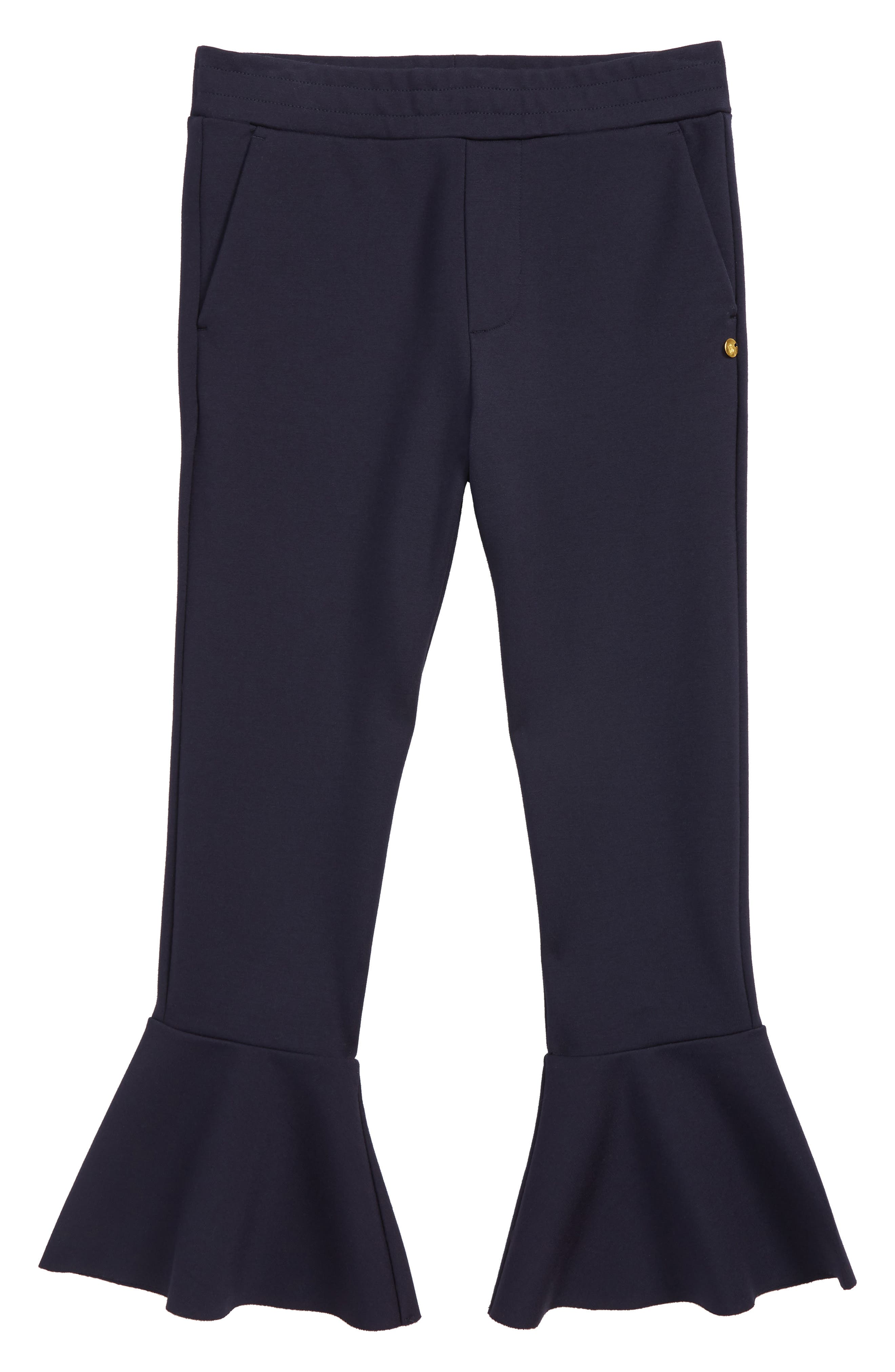 Scotch R'Belle Flare Cuff Jersey Pants,                             Main thumbnail 1, color,                             NAVY