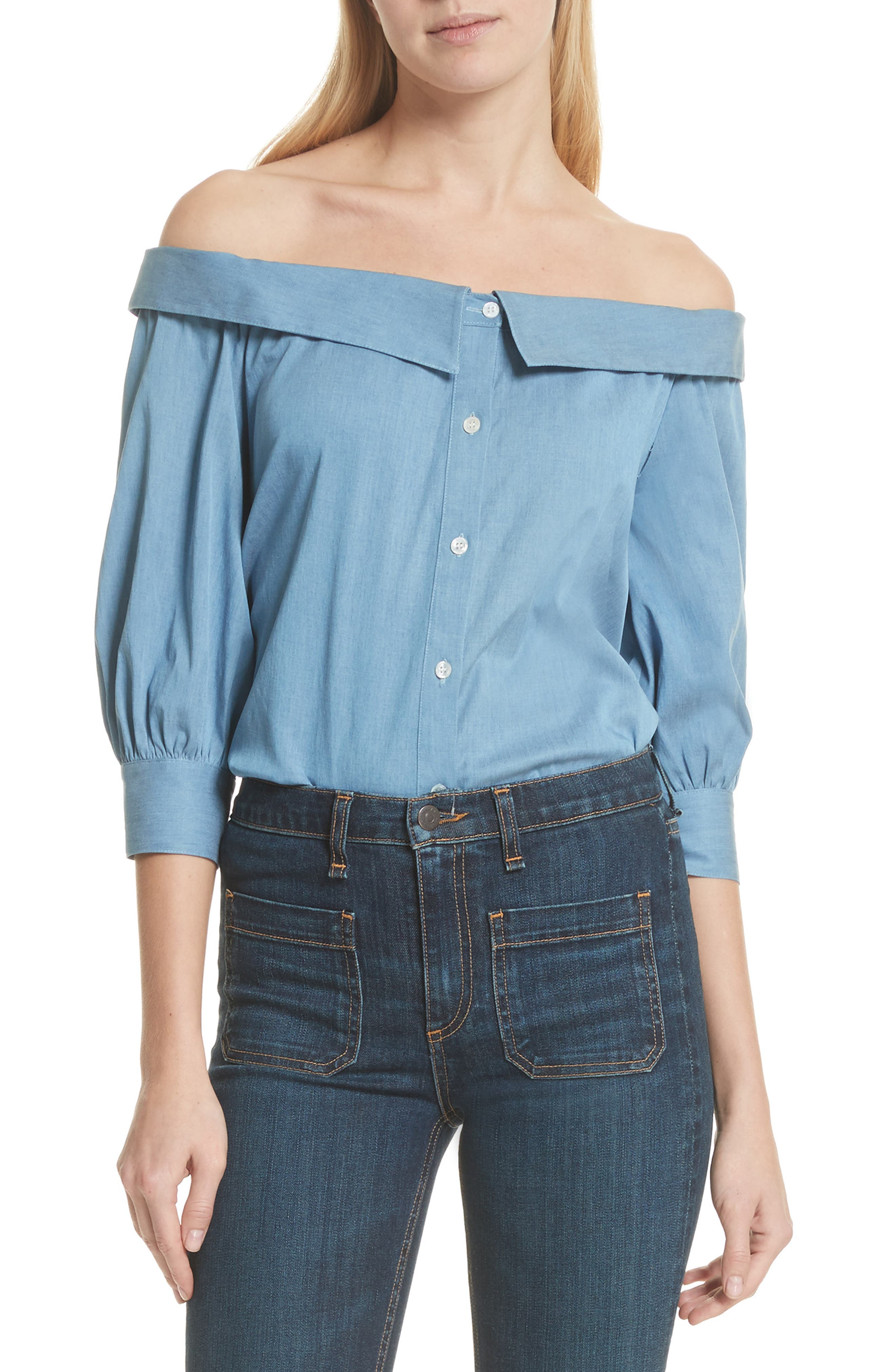 Britta Off the Shoulder Top,                             Main thumbnail 1, color,                             423