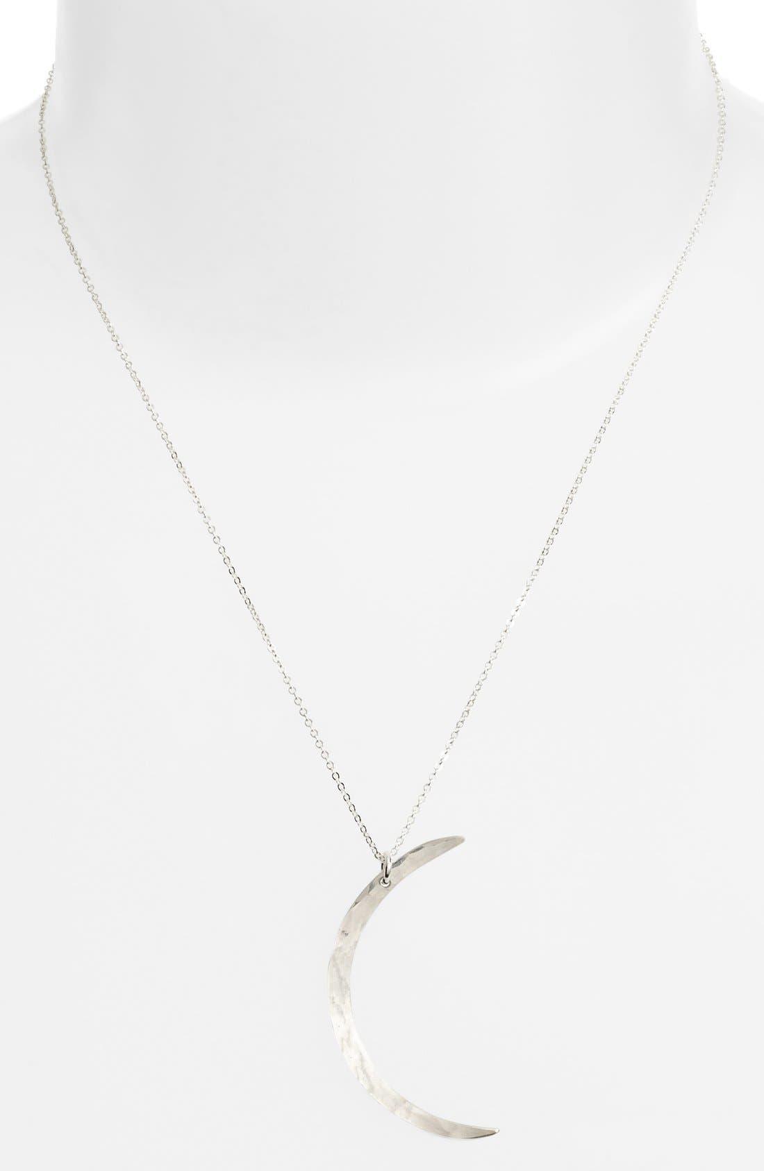 Moon Pendant Necklace,                         Main,                         color, 040