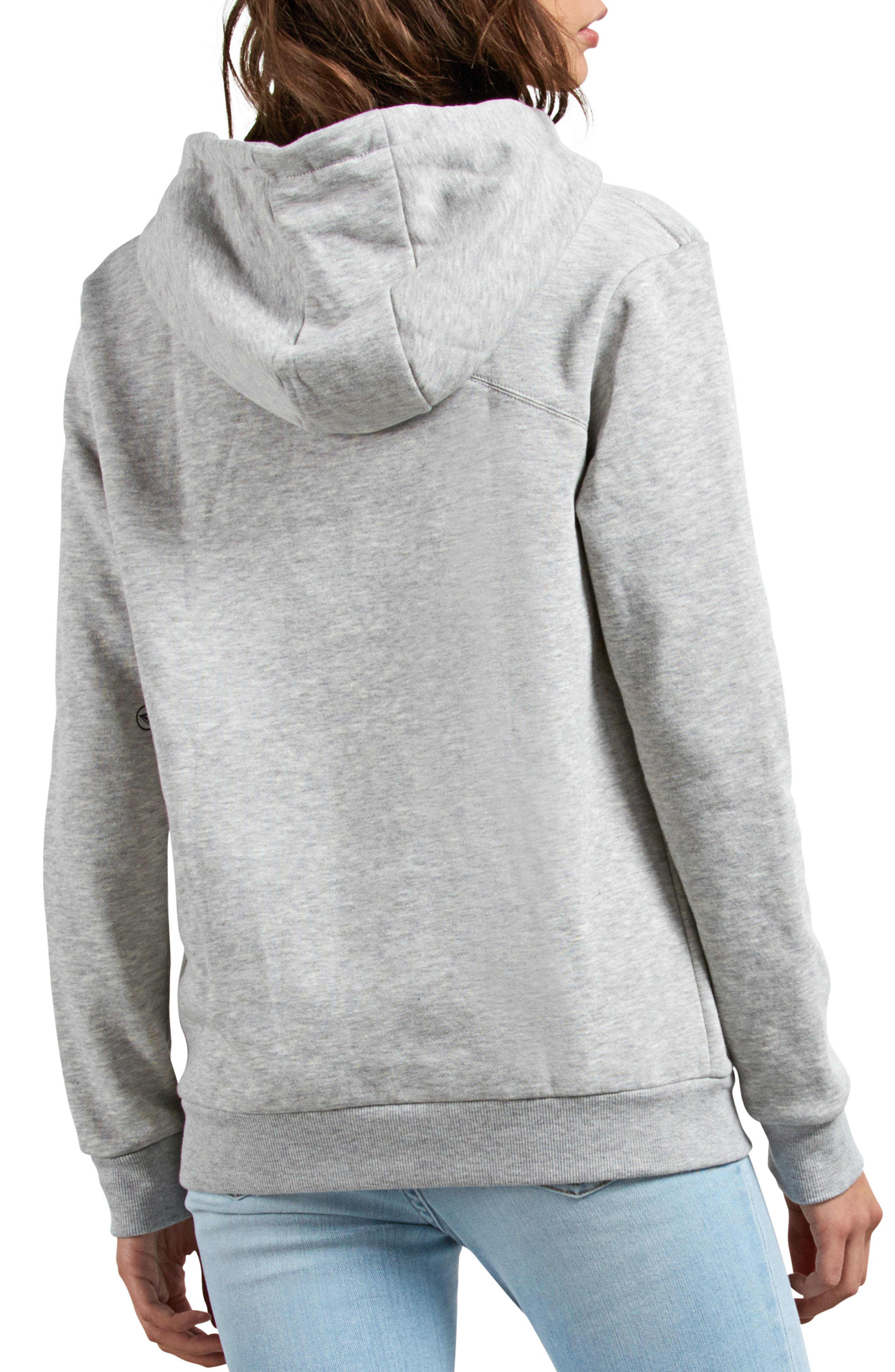 Walk On By Funnel Neck Hoodie,                             Alternate thumbnail 2, color,                             HEATHER GREY