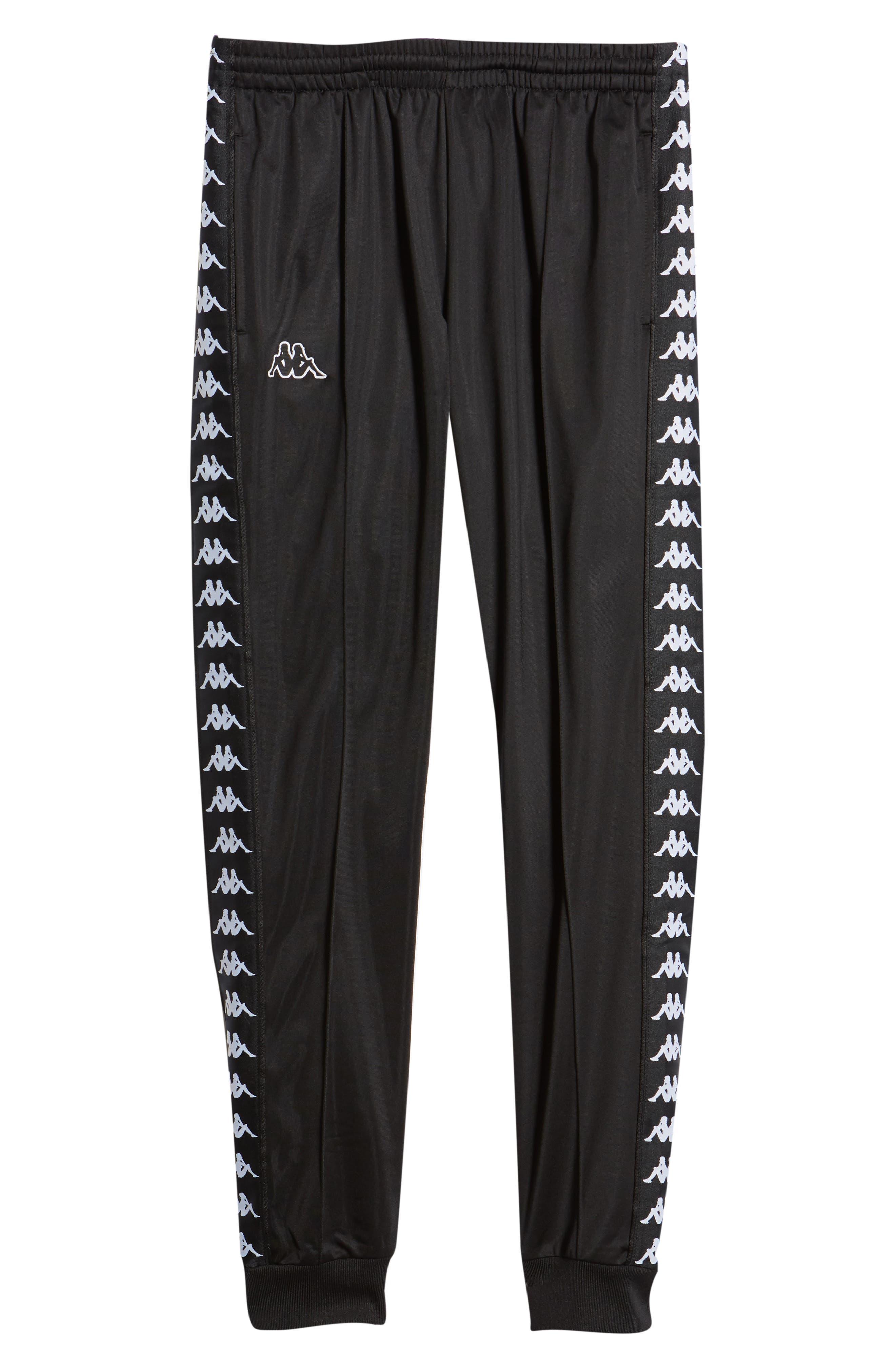 Active Banded Track Pants,                             Alternate thumbnail 6, color,                             BLACK/ BLACK