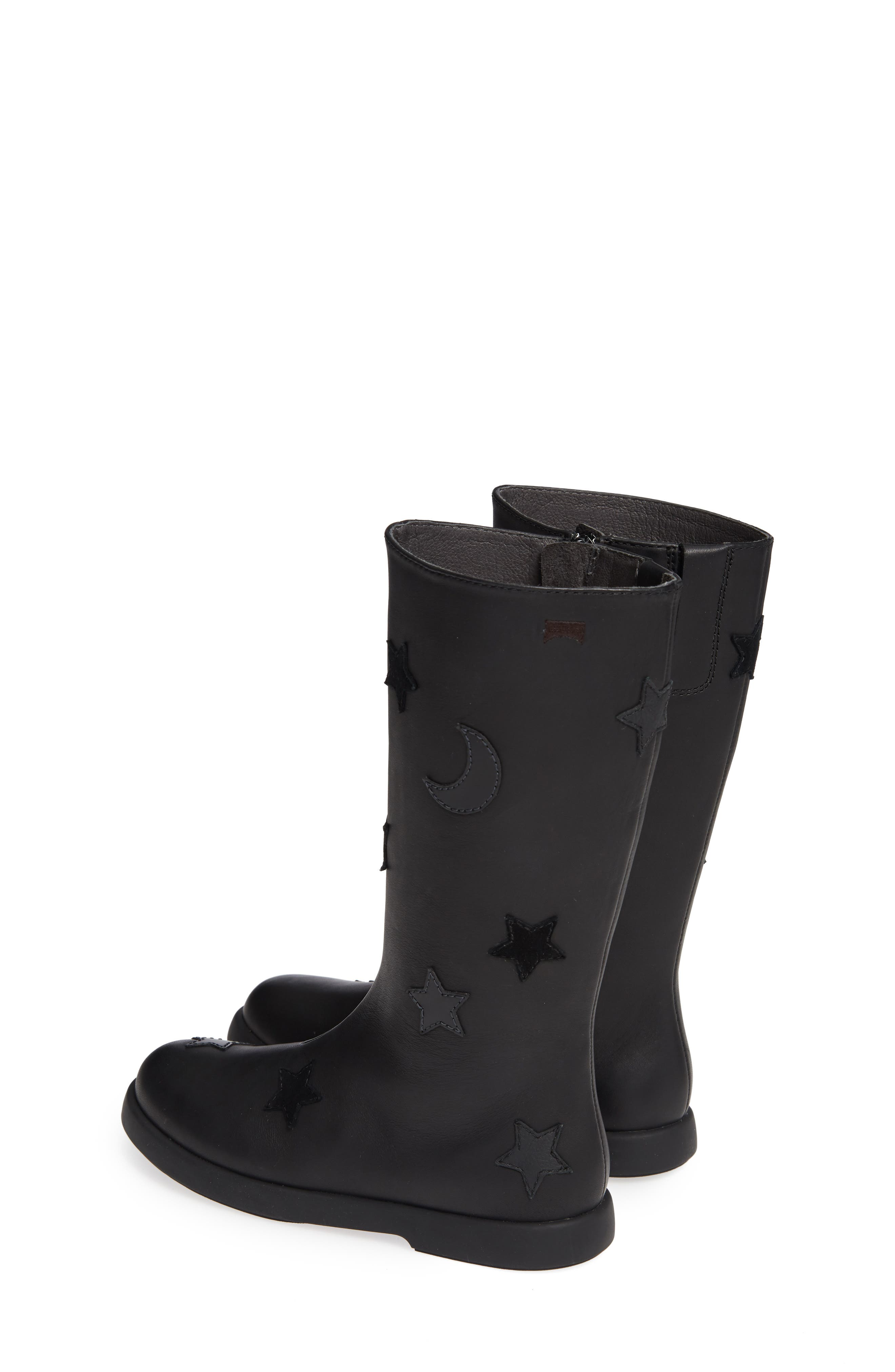 Star Appliqué Tall Boot,                             Alternate thumbnail 3, color,                             BLACK