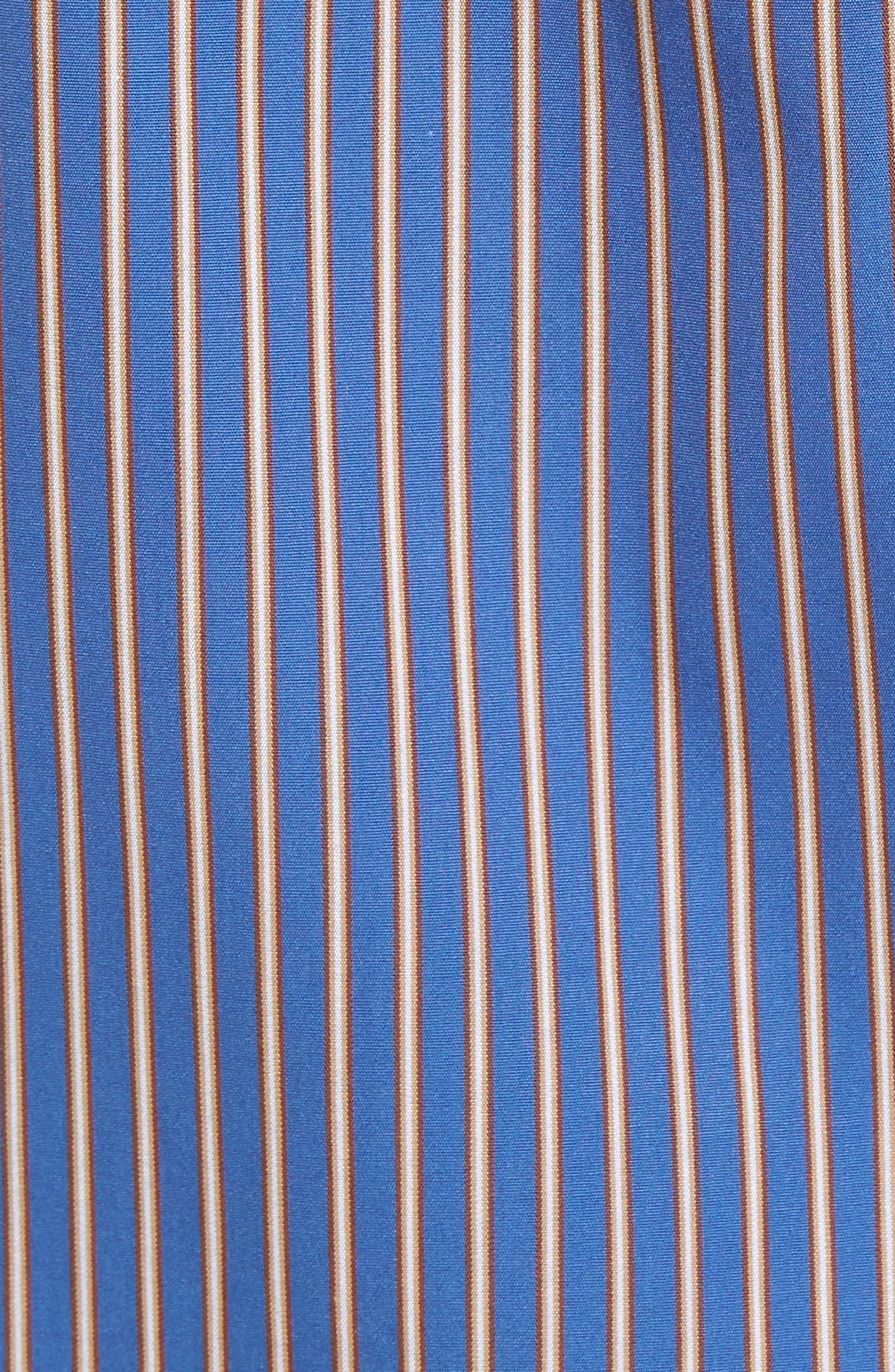Paul&Shark Striped Sport Shirt,                             Alternate thumbnail 5, color,                             400