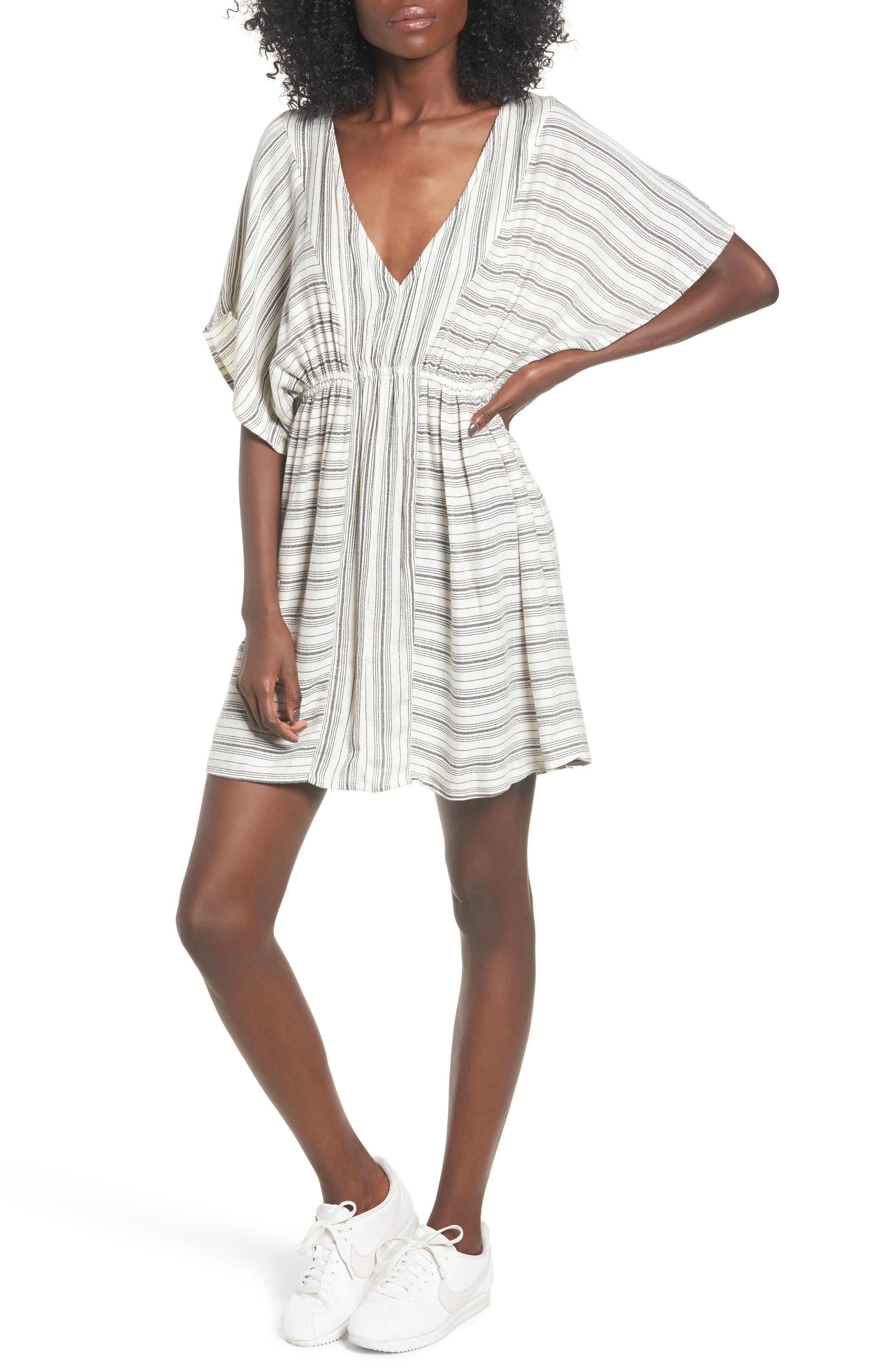 Rip Curl Sea Tribe Stripe Dress, Ivory