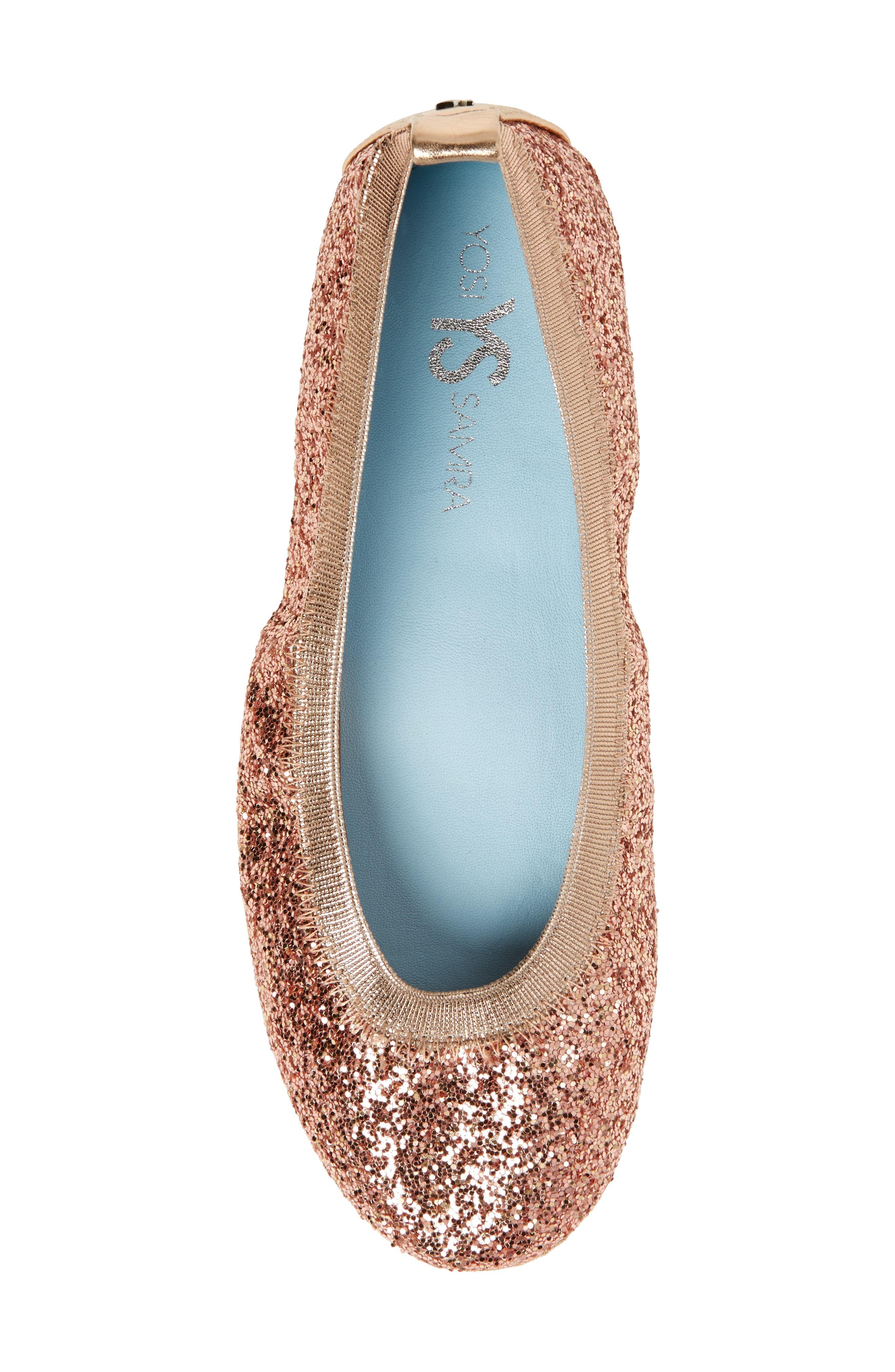Serna Foldable Glitter Ballet Flat,                             Alternate thumbnail 19, color,
