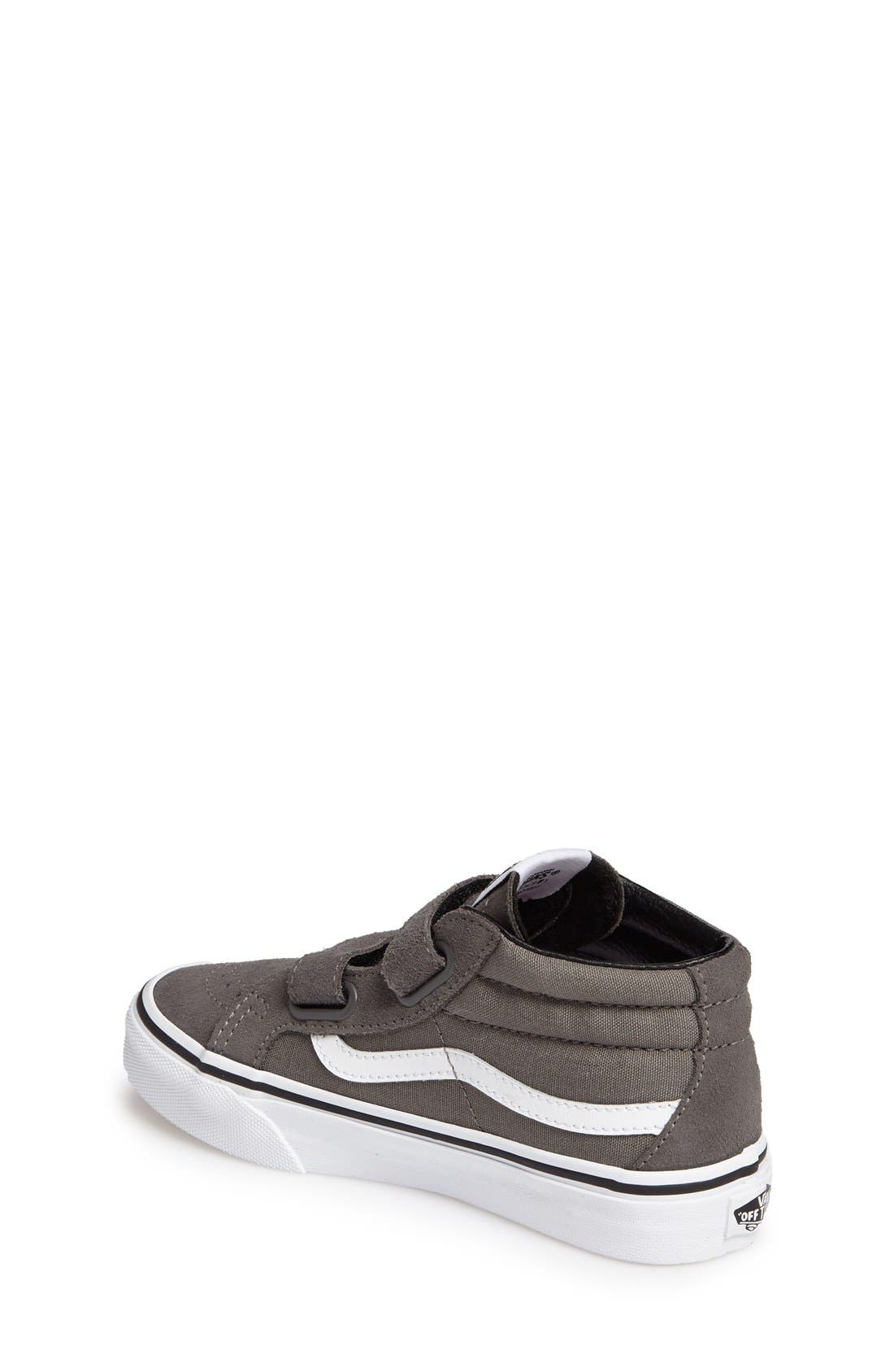 SK8 Mid-Top Reissue Sneaker,                             Alternate thumbnail 2, color,                             GREY FABRIC