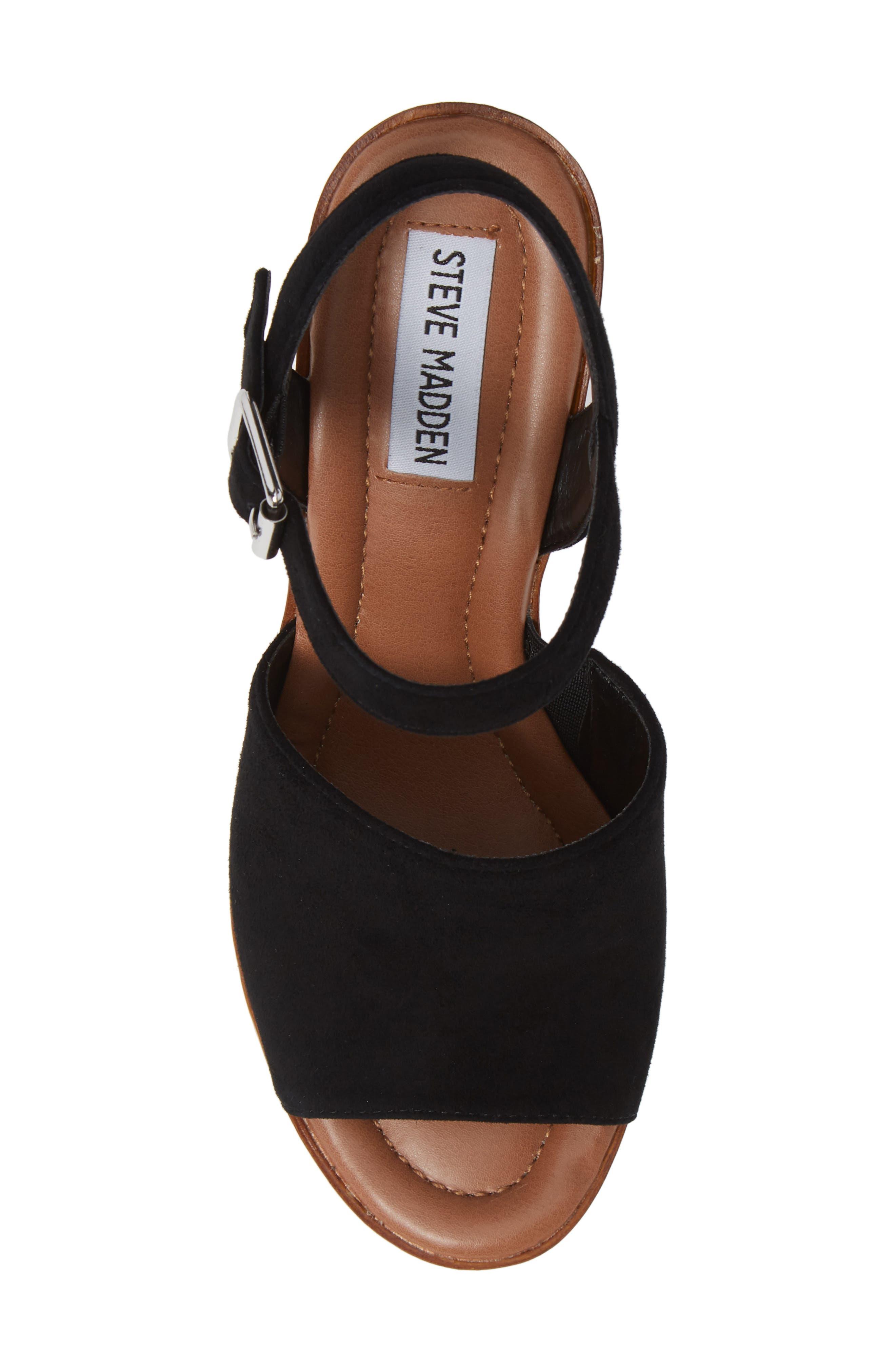 Bellini Wedge Sandal,                             Alternate thumbnail 5, color,                             BLACK SUEDE