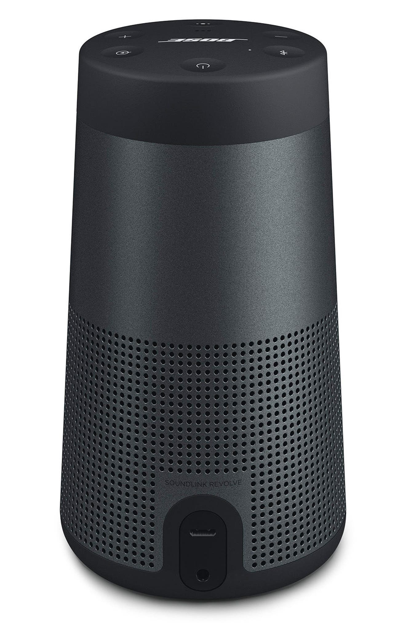 SoundLink<sup>®</sup> Revolve Bluetooth<sup>®</sup> Speaker,                             Alternate thumbnail 2, color,                             BLACK