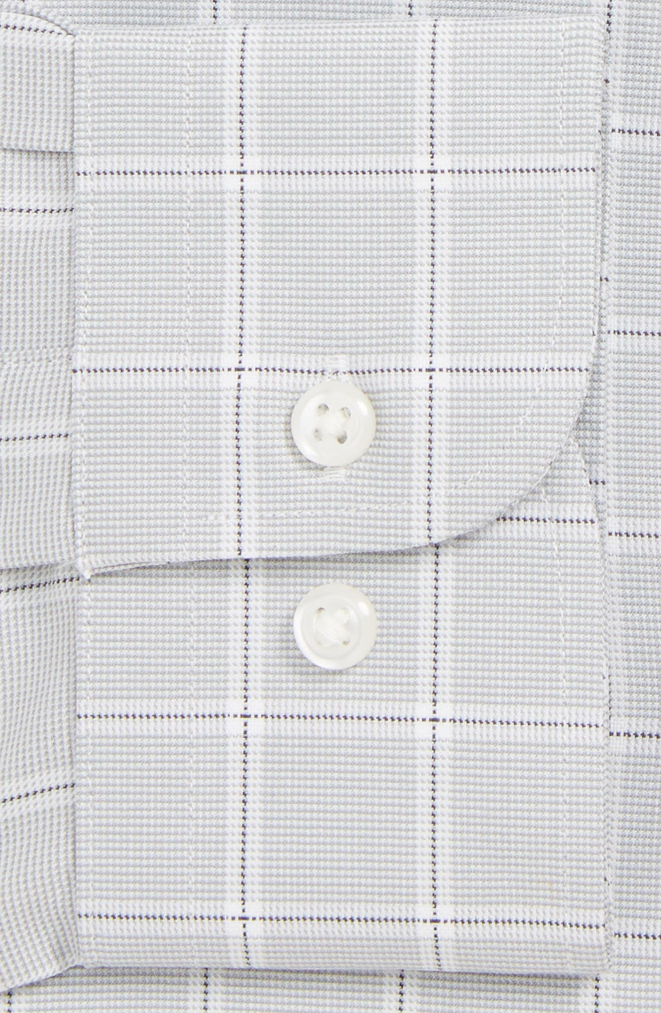 Tech-Smart Traditional Fit Stretch Check Dress Shirt,                             Alternate thumbnail 2, color,                             GREY SLEET