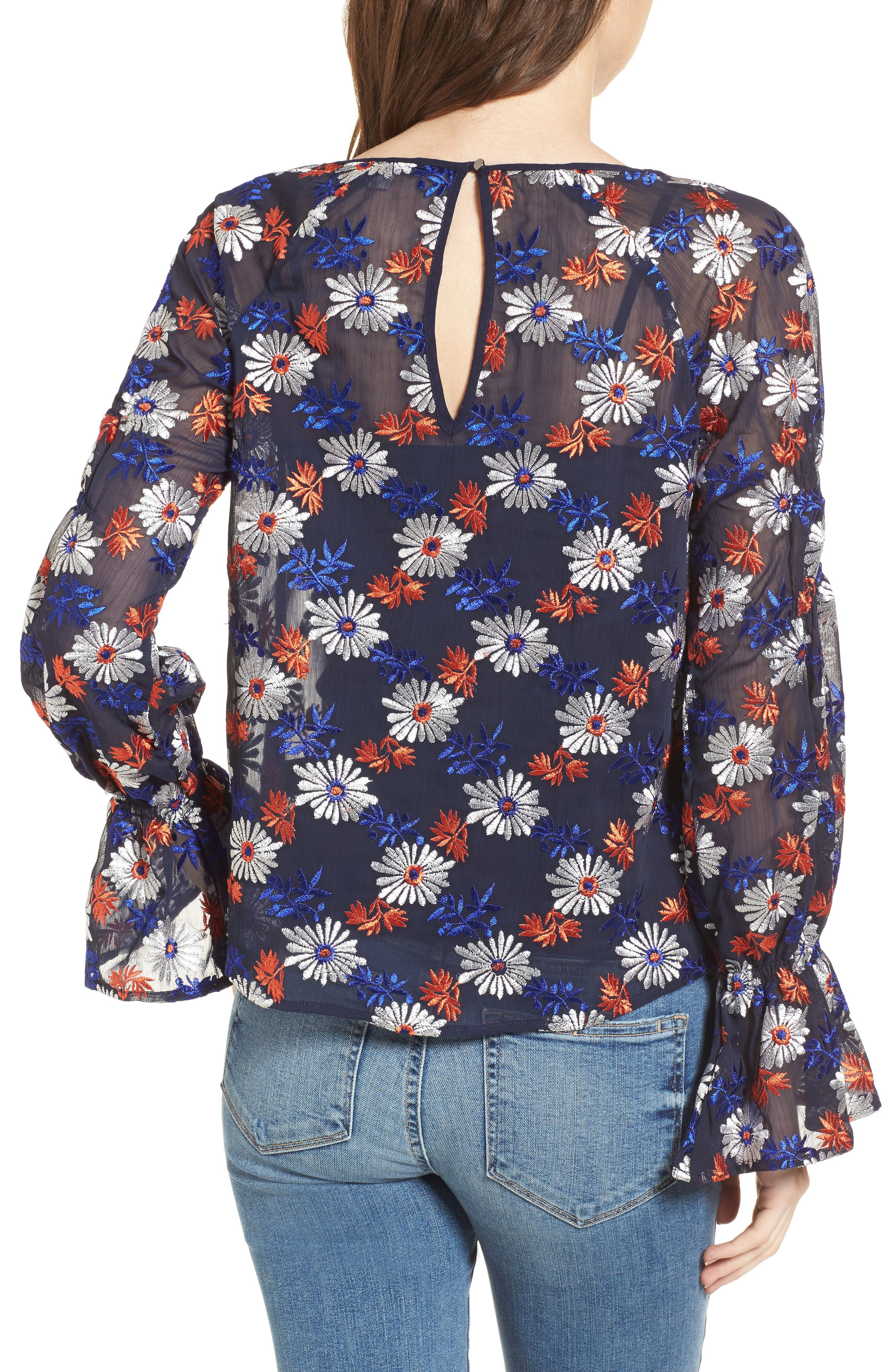 Embroidered Floral Blouse,                             Alternate thumbnail 2, color,                             419