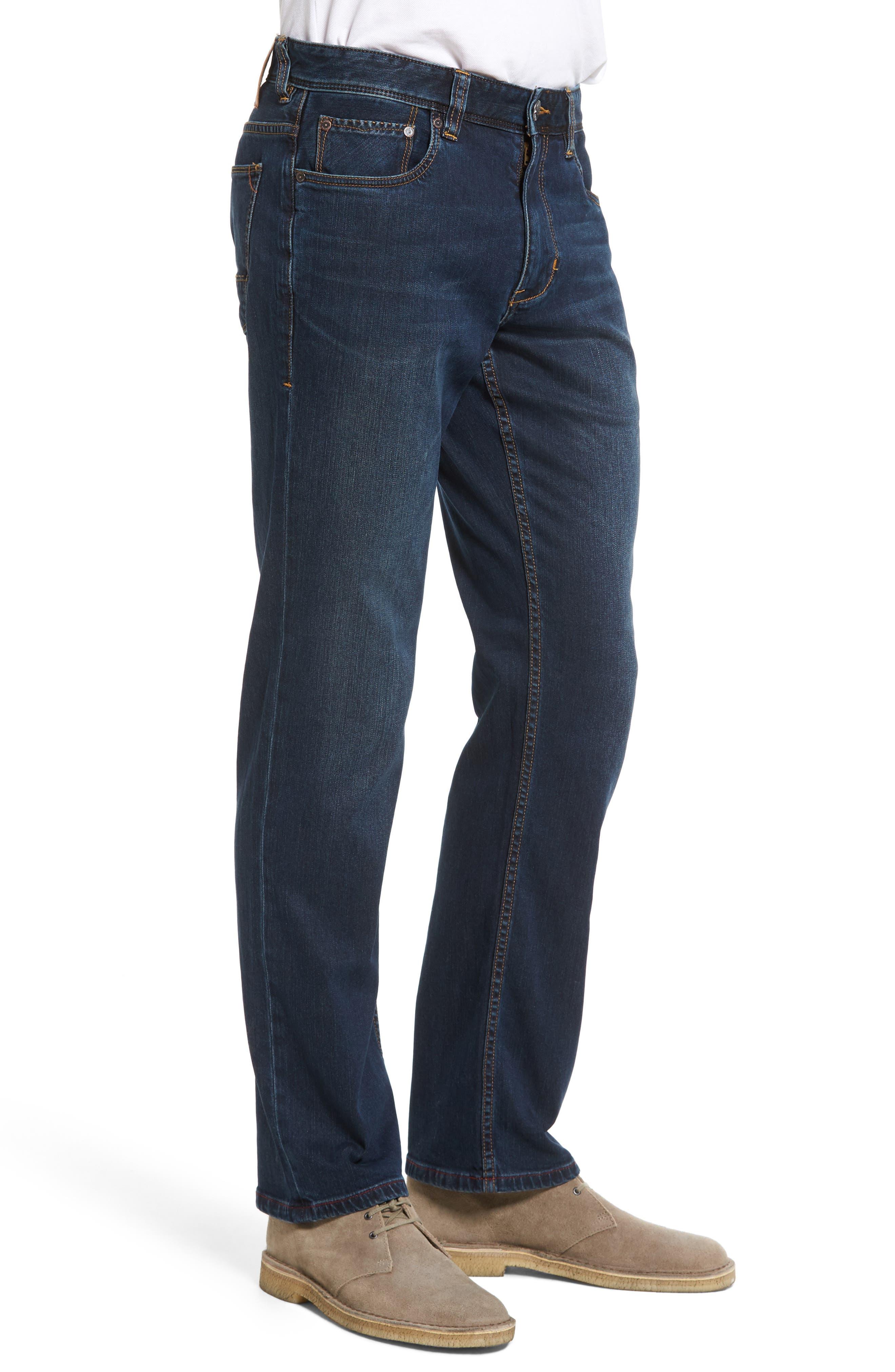 Straight Leg Jeans,                             Alternate thumbnail 3, color,                             400