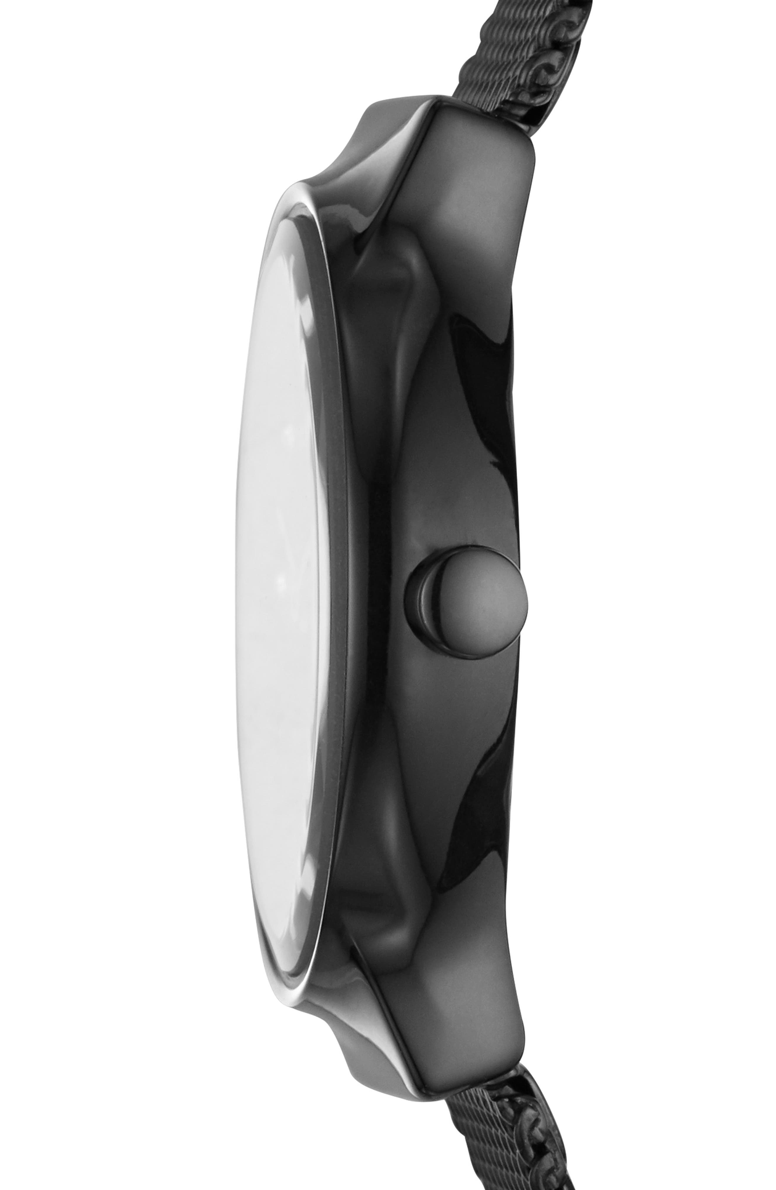 Freja Crystal Accent Mesh Strap Watch, 26mm,                             Alternate thumbnail 2, color,                             001