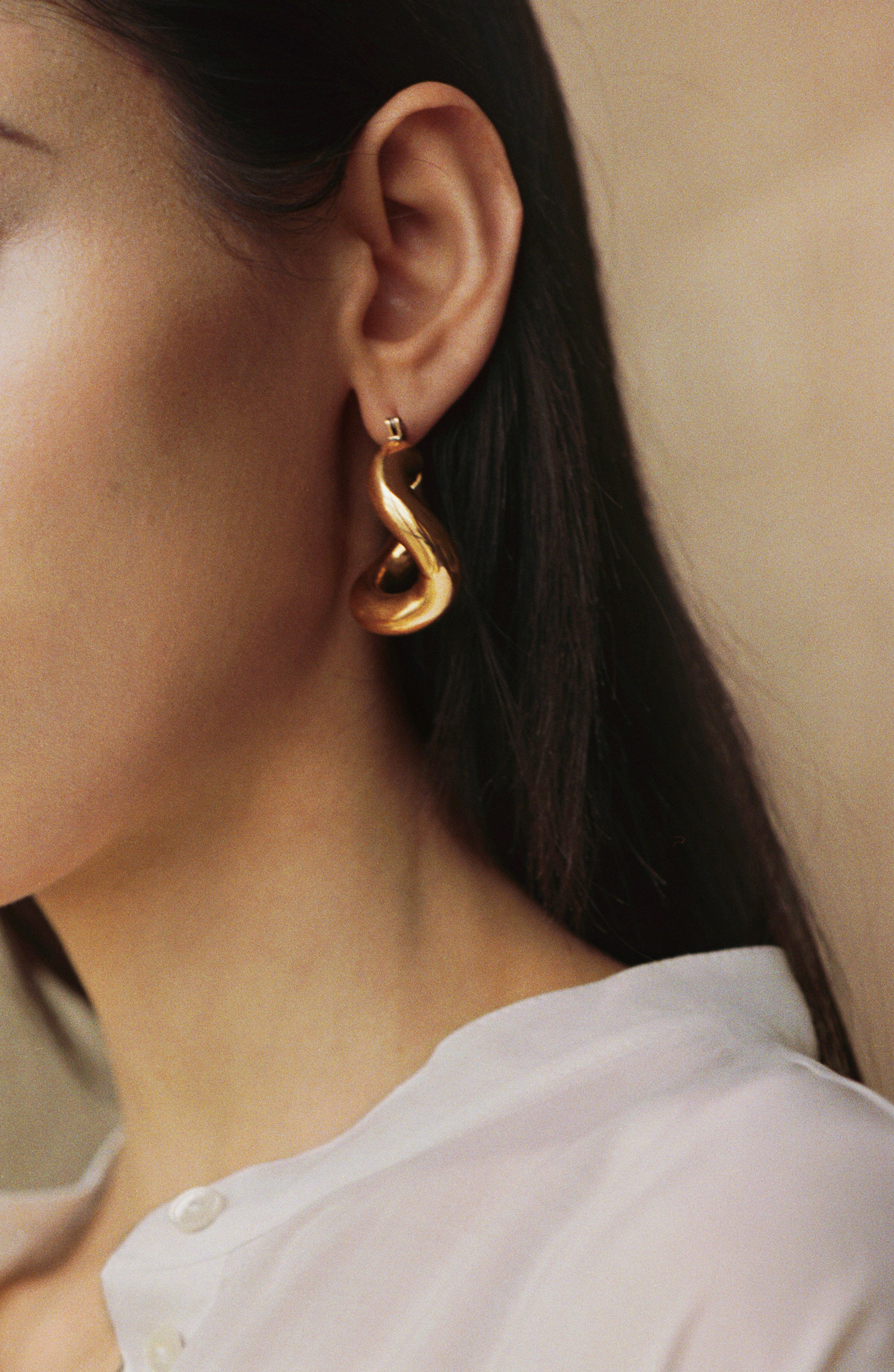 Anima Earrings,                             Alternate thumbnail 2, color,                             BRASS