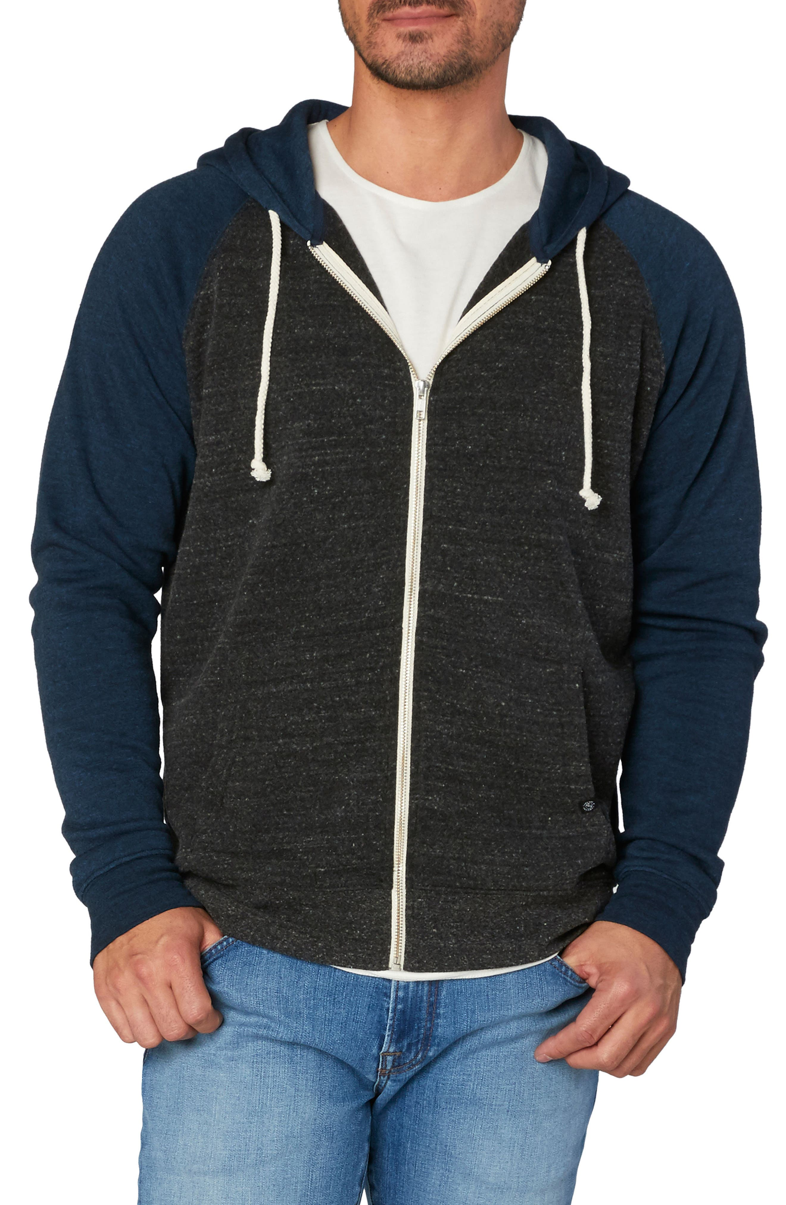 Threads for Thought Raglan Hoodie,                             Main thumbnail 1, color,                             001