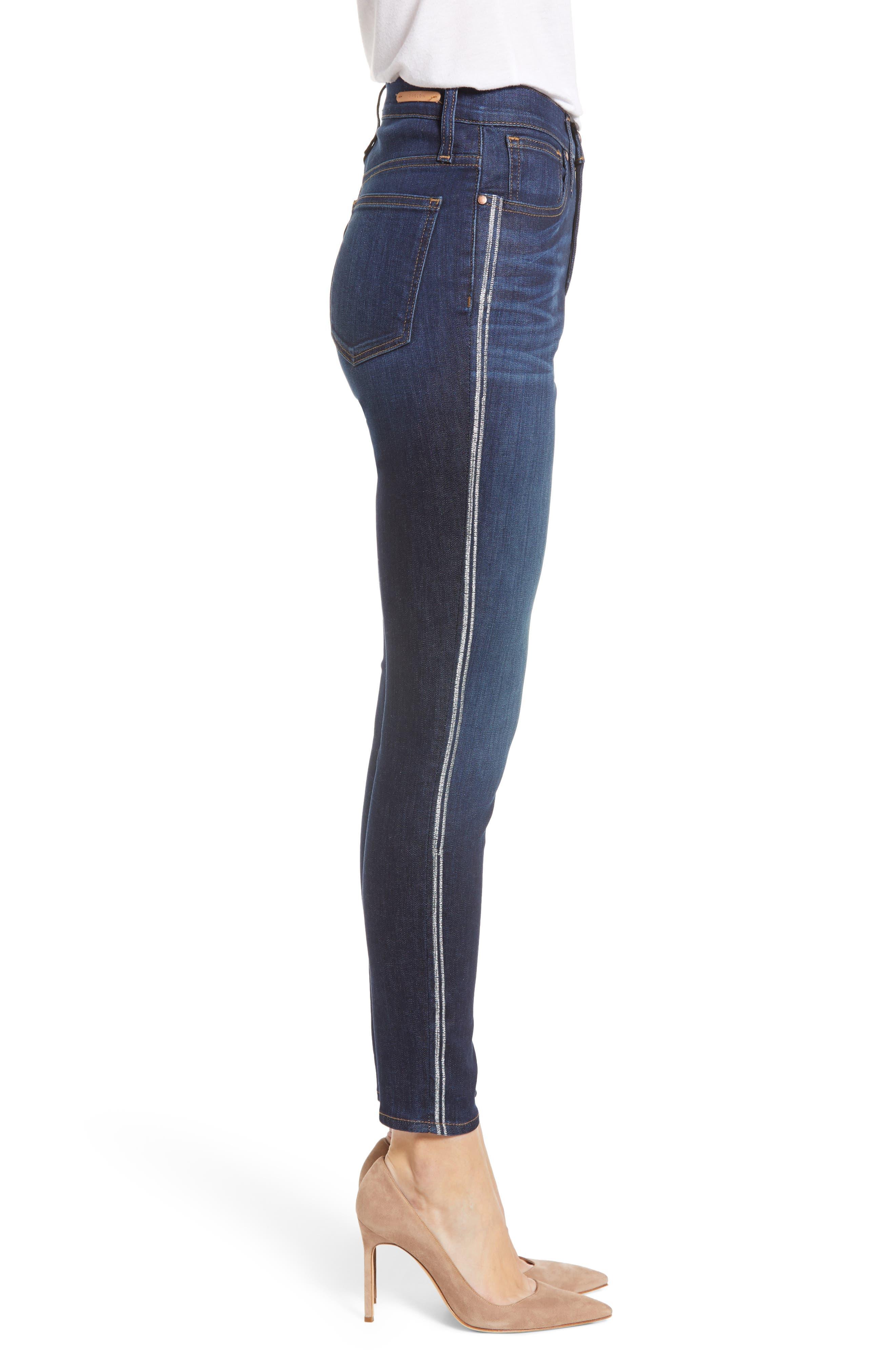 Sierra High Waist Ankle Skinny Jeans,                             Alternate thumbnail 3, color,                             FRANCIS