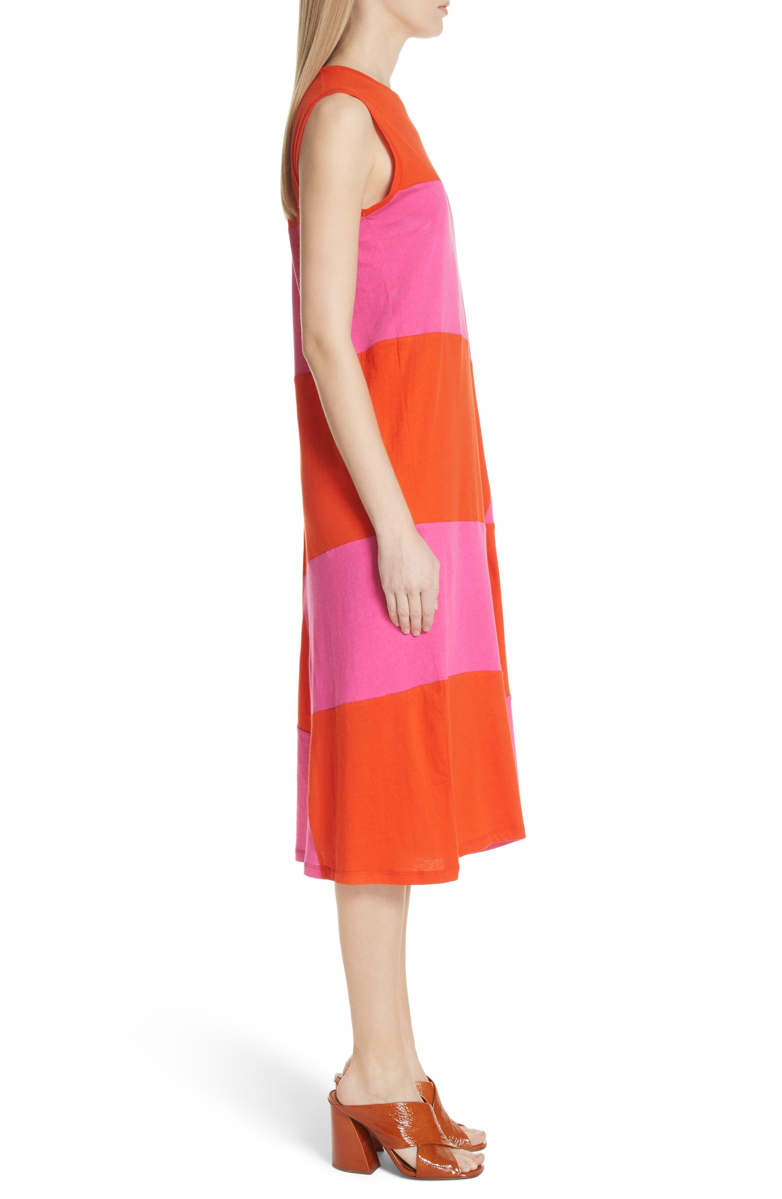 Dove Asymmetrical Stripe Dress,                             Alternate thumbnail 3, color,                             812