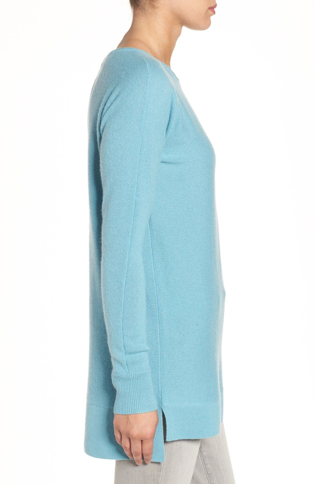 High/Low Wool & Cashmere Tunic Sweater,                             Alternate thumbnail 46, color,