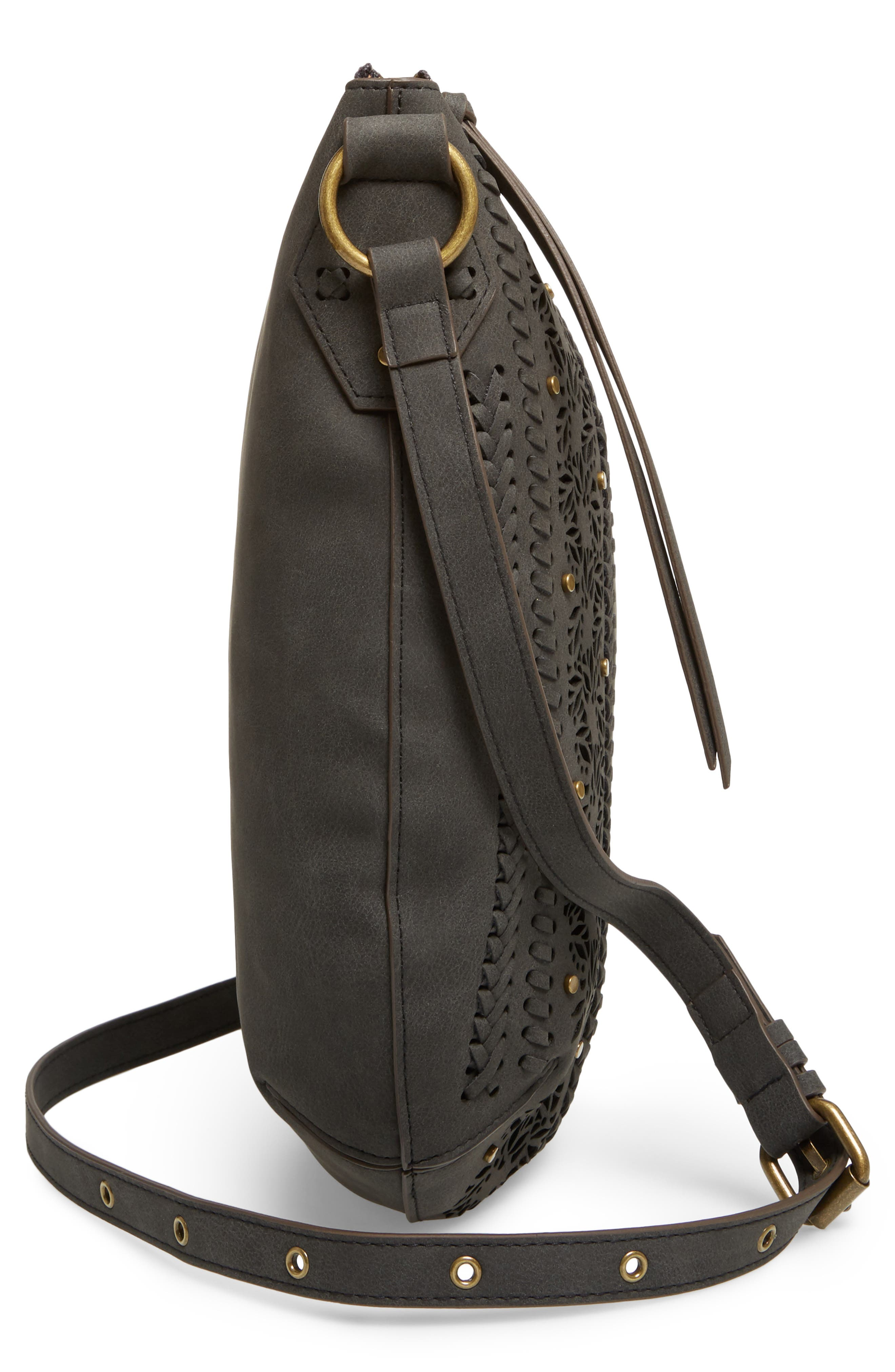 Palomina Faux Leather Crossbody Hobo,                             Alternate thumbnail 13, color,
