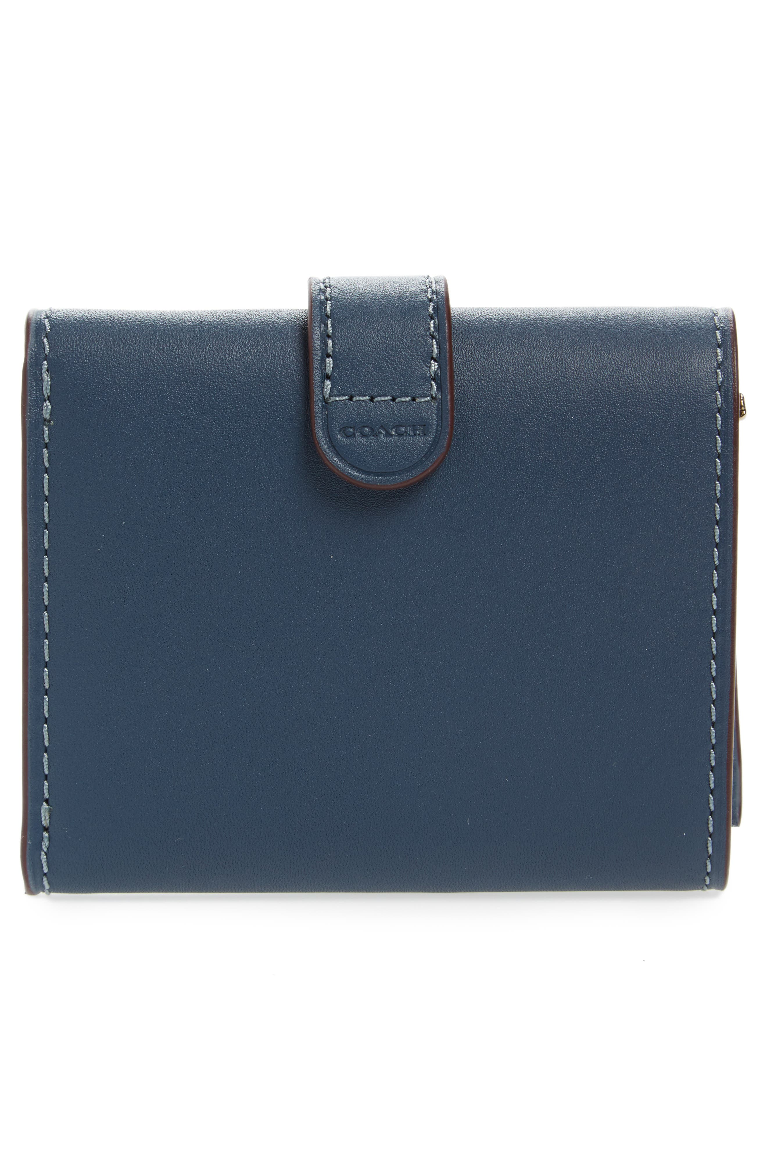 Small Leather Trifold Wallet,                             Alternate thumbnail 4, color,                             400
