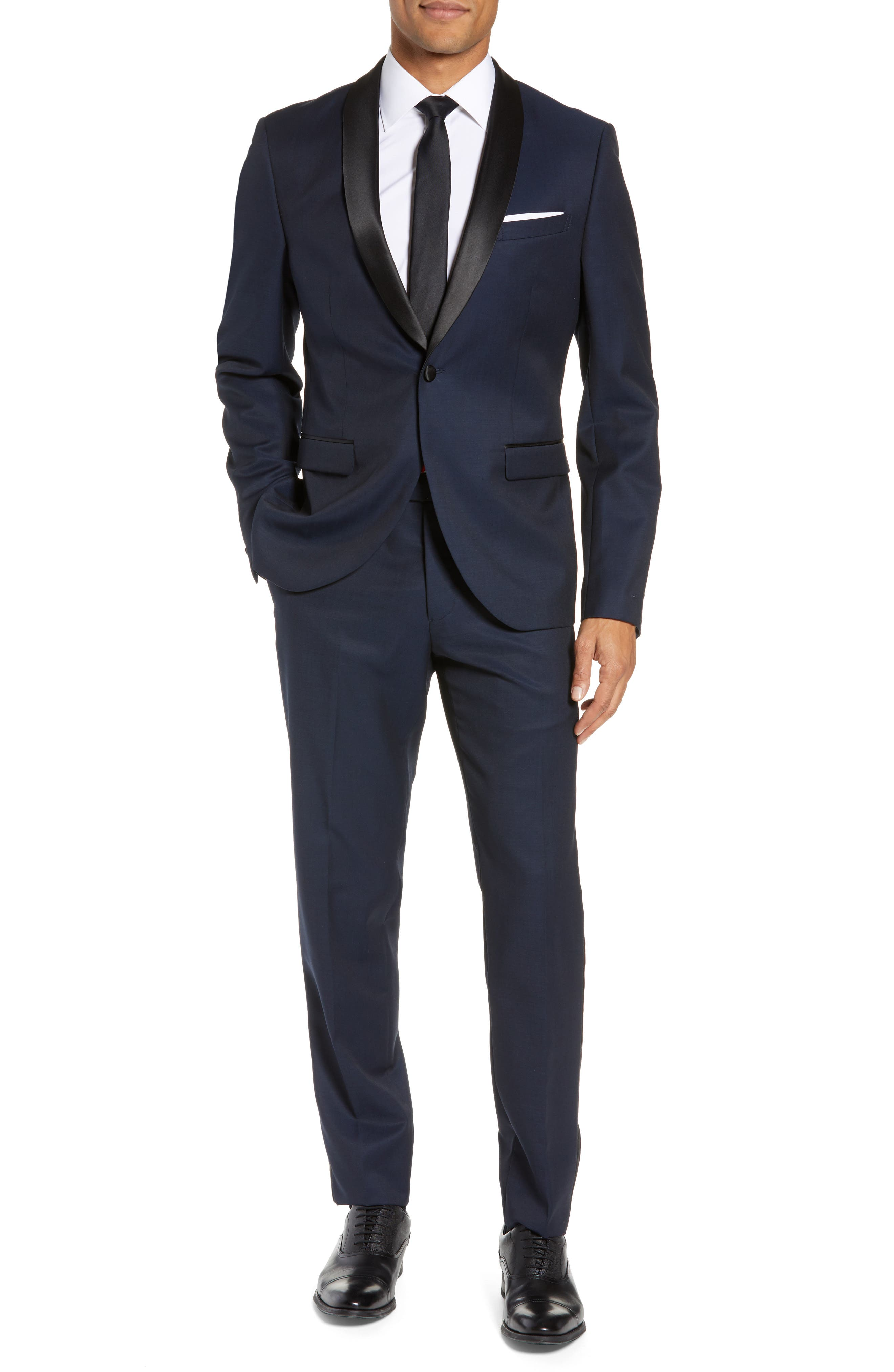 CALIBRATE,                             Extra Trim Fit Shawl Dinner Jacket,                             Alternate thumbnail 7, color,                             HIGH BLUE
