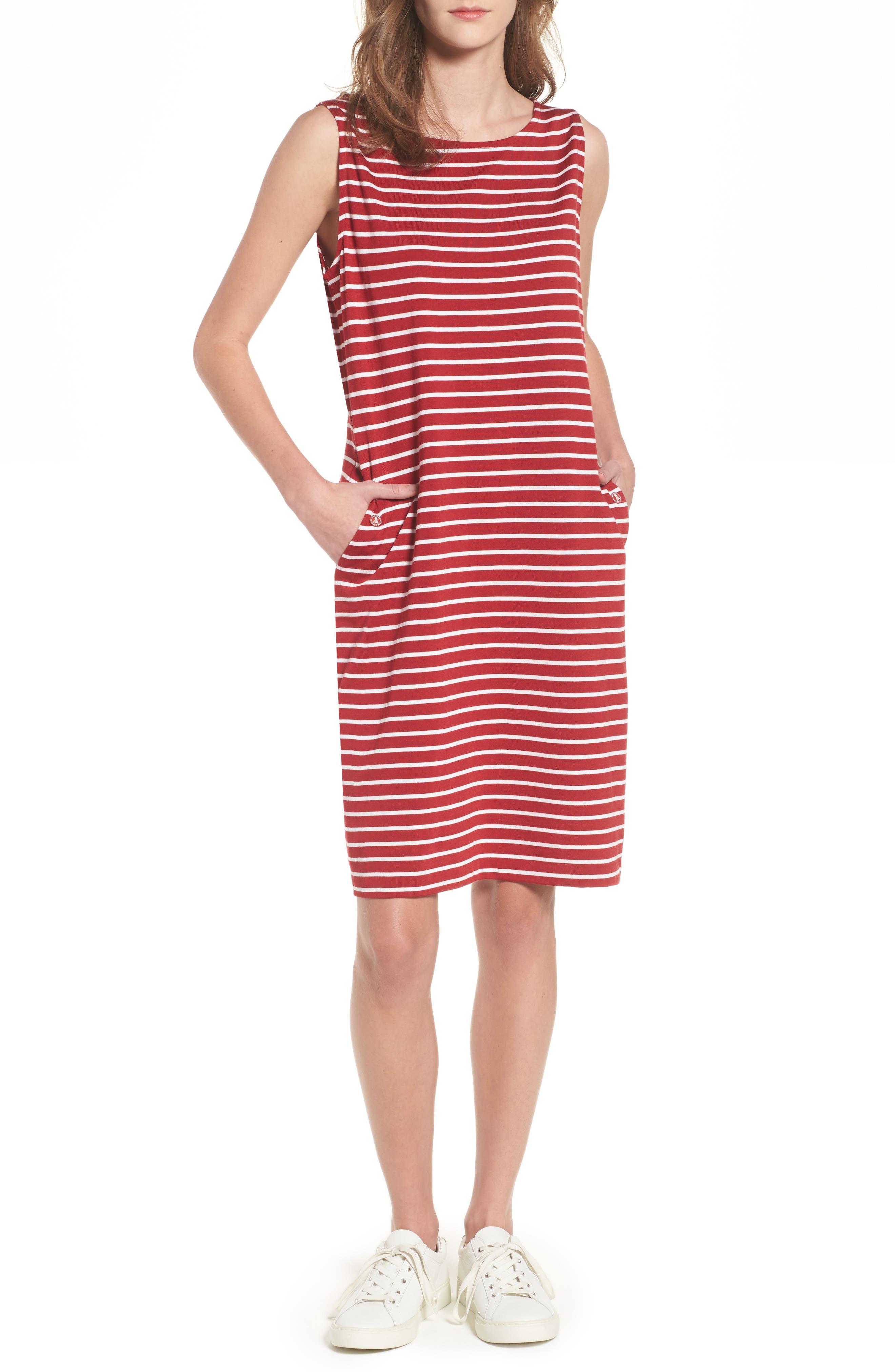 Dalmore Stripe Jersey Sleeveless Shift Dress,                         Main,                         color, 630