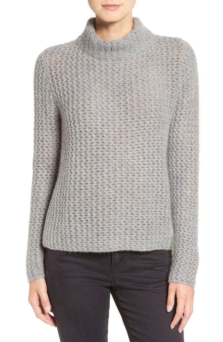 4a0d95d480 Halogen® Stitch Detail Cashmere Mock Neck Sweater (Regular   Petite ...