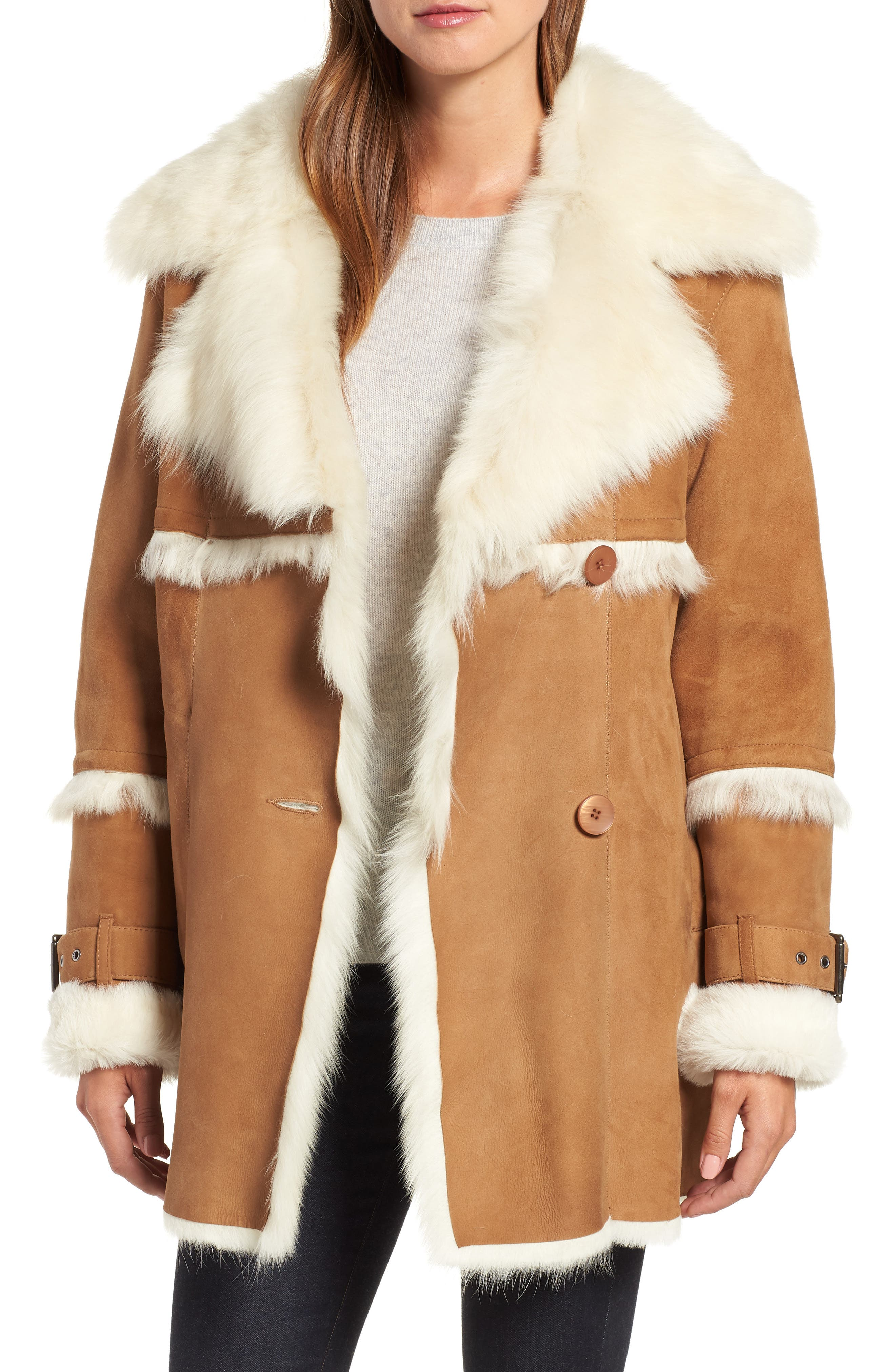 Hiso Genuine Toscana Shearling Jacket, Brown