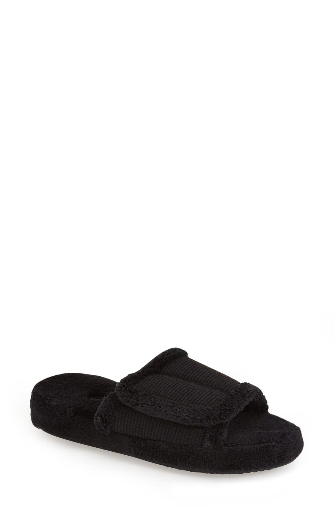 ACORN 'Waffle Spa Slide' Slipper in Black