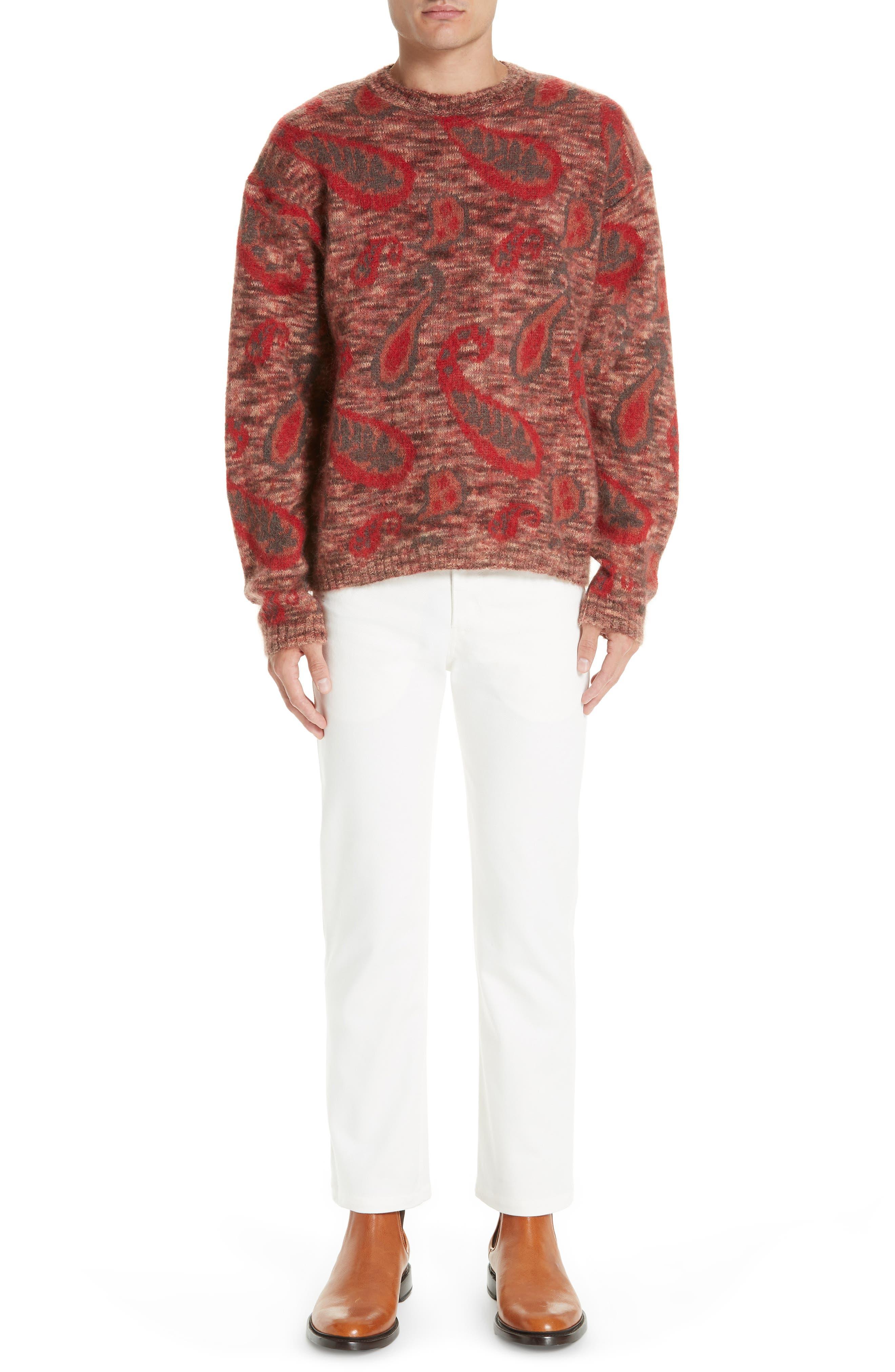 Mohair Blend Paisley Sweater,                             Alternate thumbnail 7, color,                             600