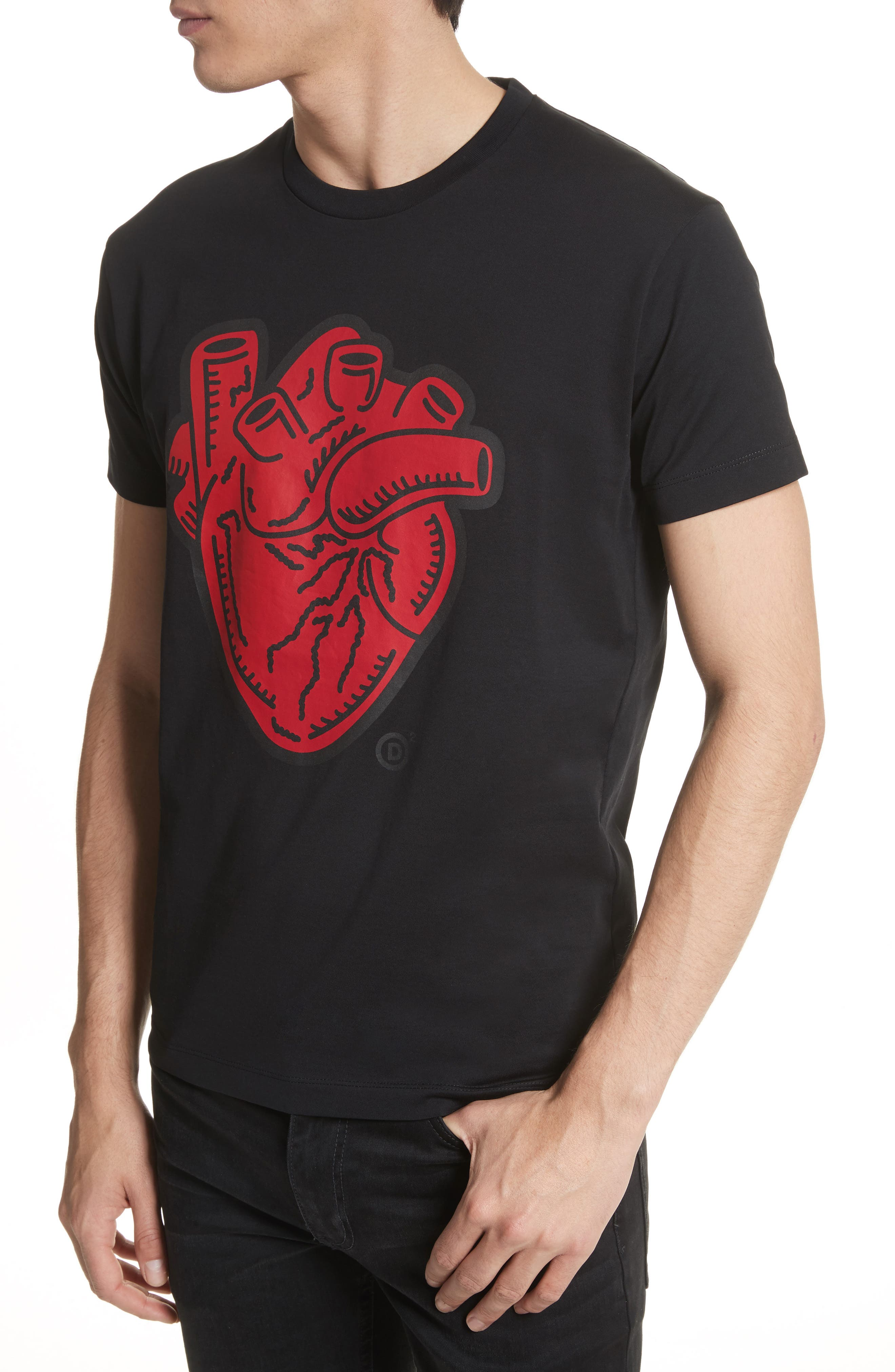 Heart Graphic T-Shirt,                             Alternate thumbnail 4, color,
