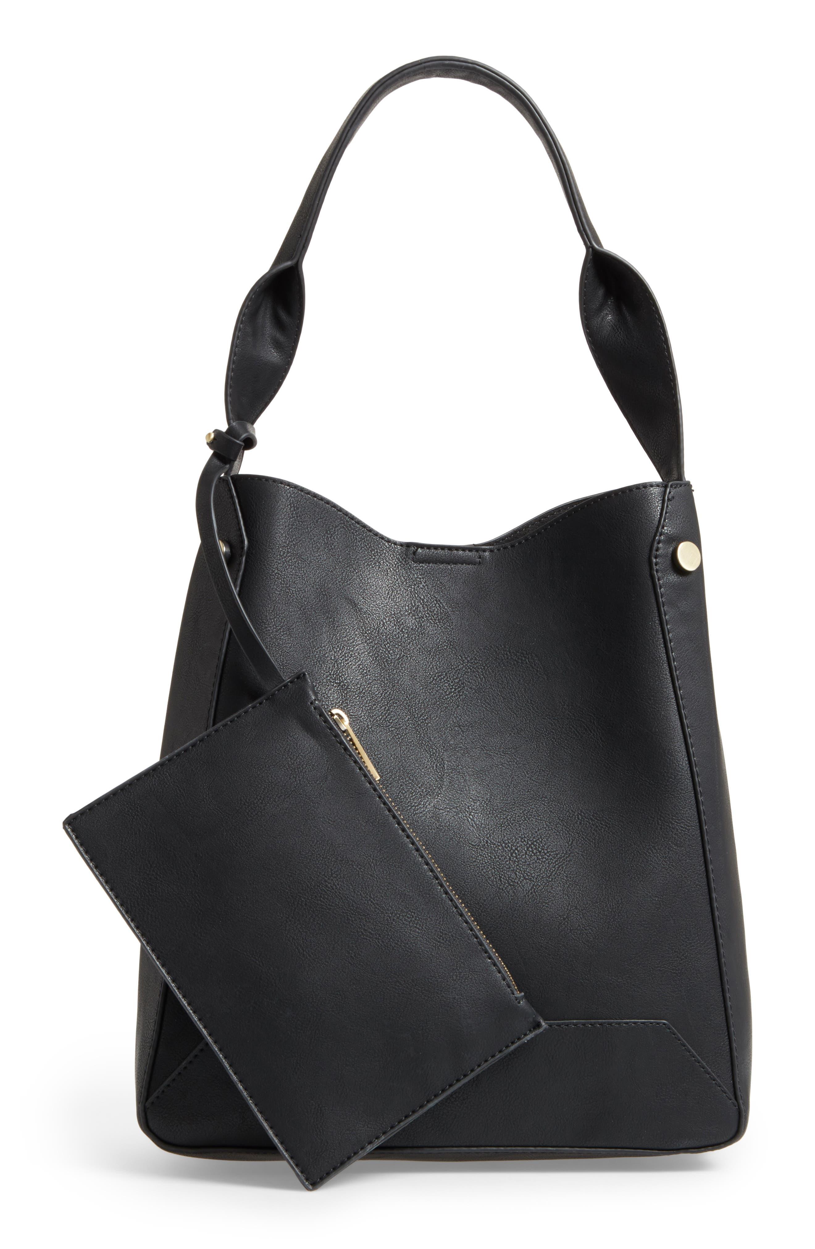 Alani Faux Leather Shoulder Bag,                             Alternate thumbnail 5, color,