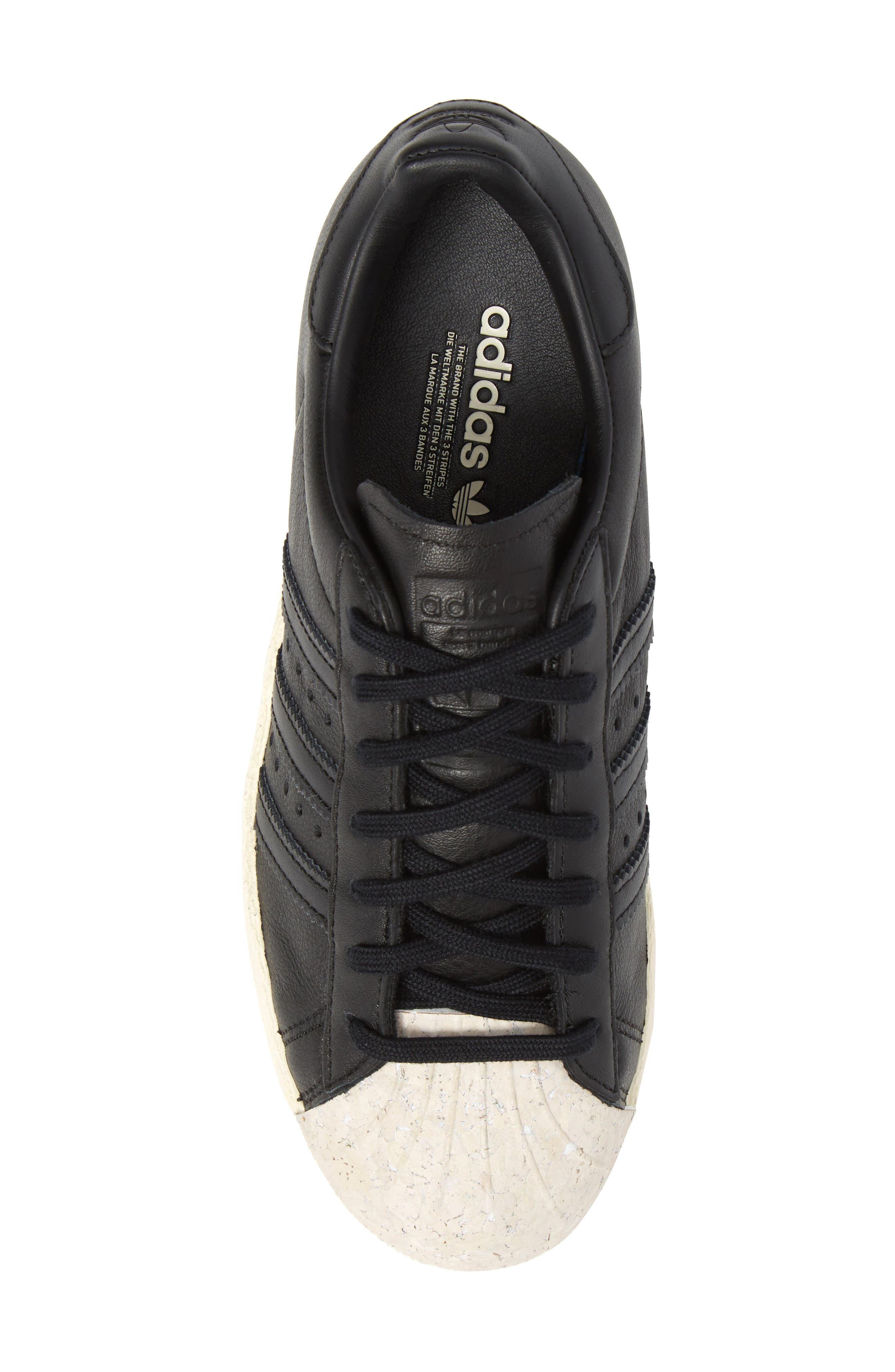Superstar 80s Sneaker,                             Alternate thumbnail 5, color,                             001