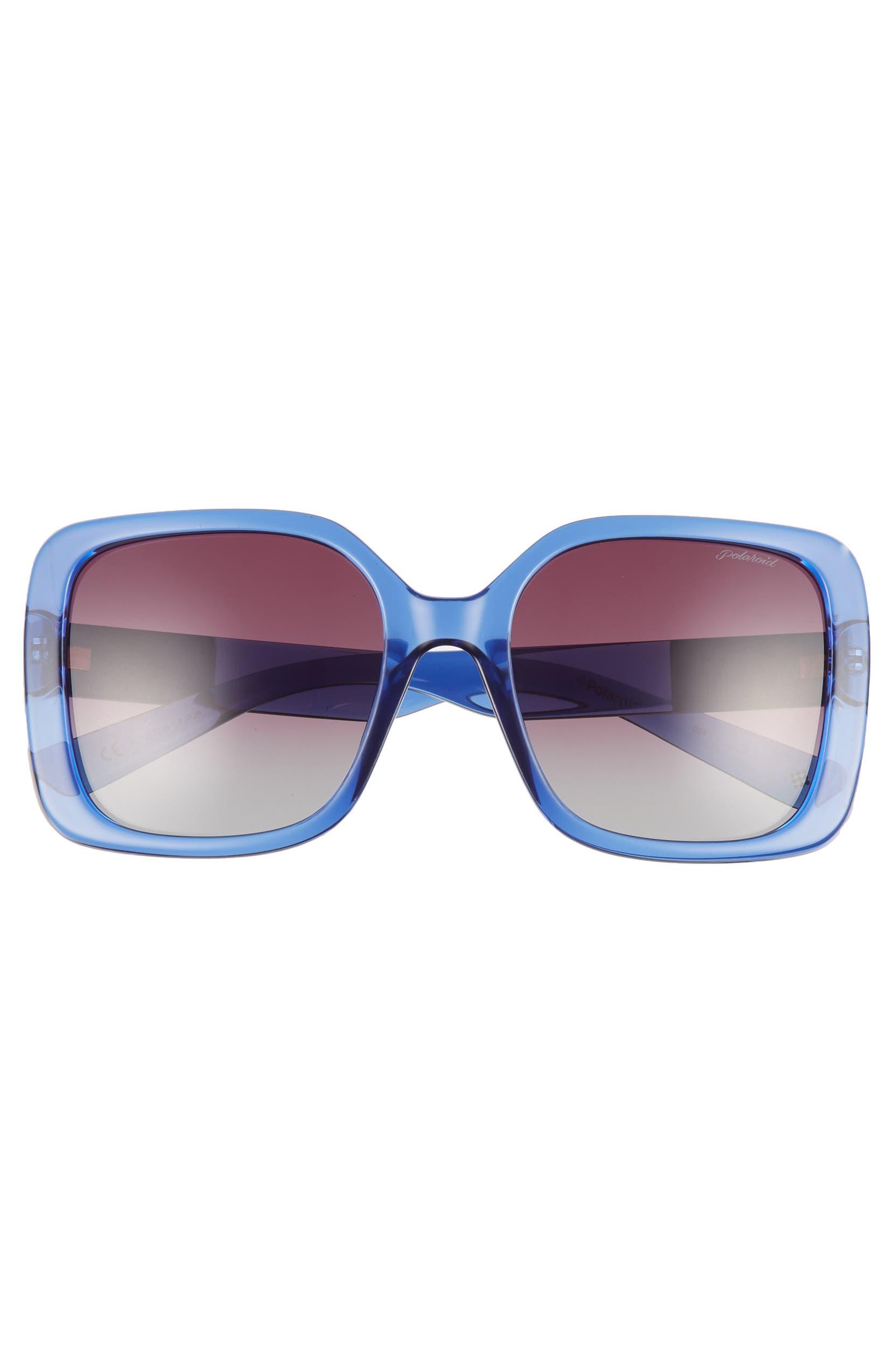 60e86fa7408 Polaroid 55mm Polarized Gradient Square Sunglasses