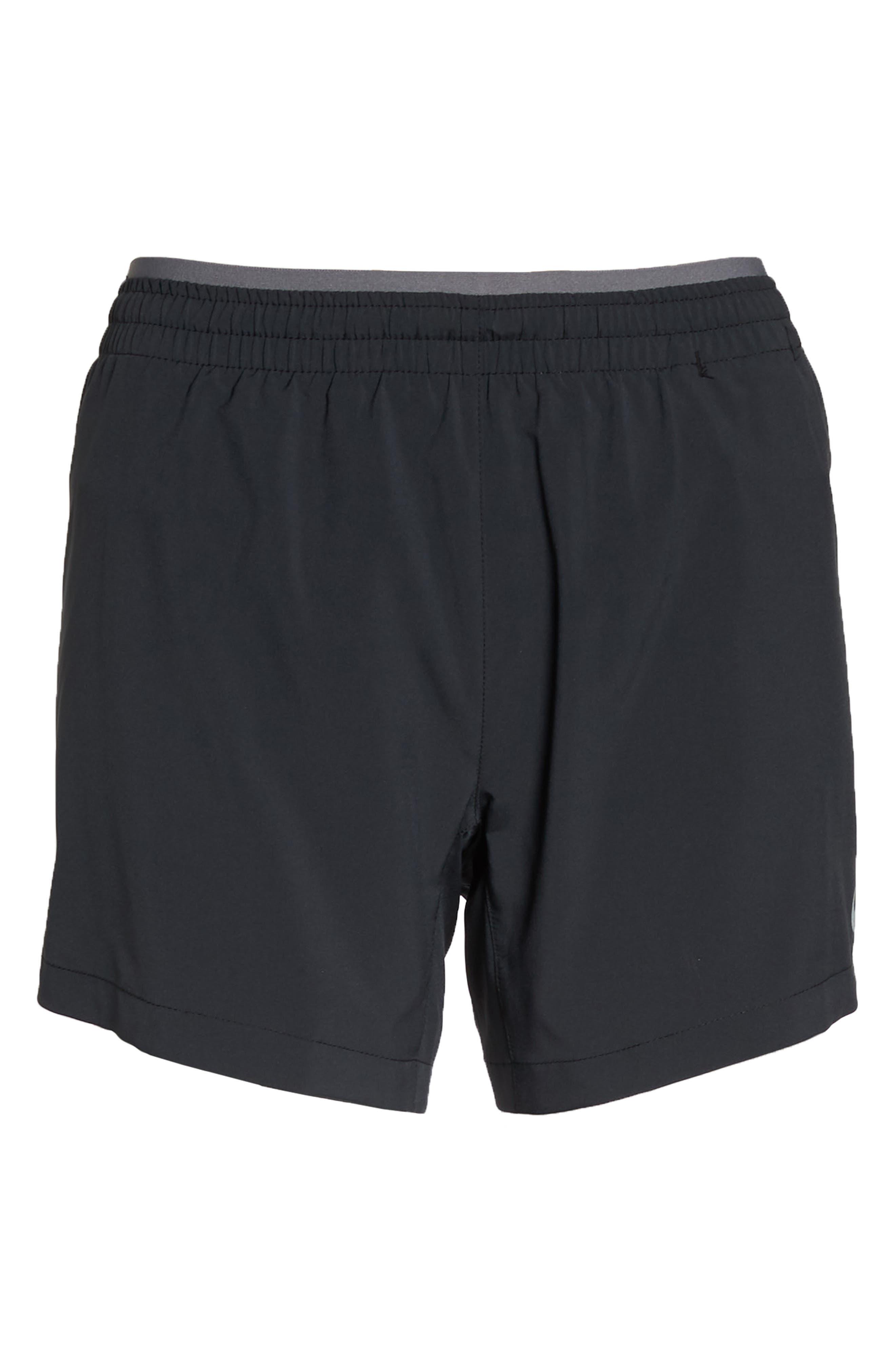 Flex 5-Inch Inseam Running Shorts,                             Alternate thumbnail 7, color,                             BLACK/ GUNSMOKE