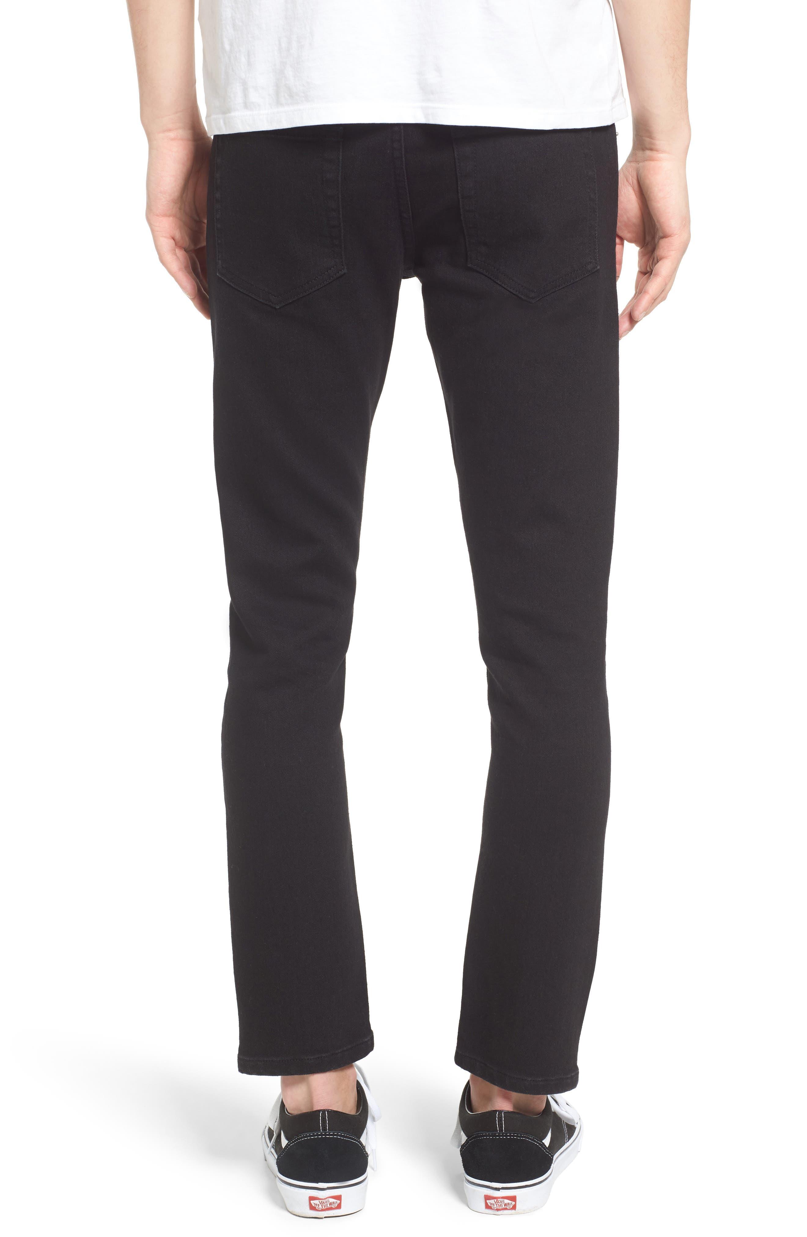 Juvee II Flooded Skinny Fit Jeans,                             Alternate thumbnail 2, color,                             001