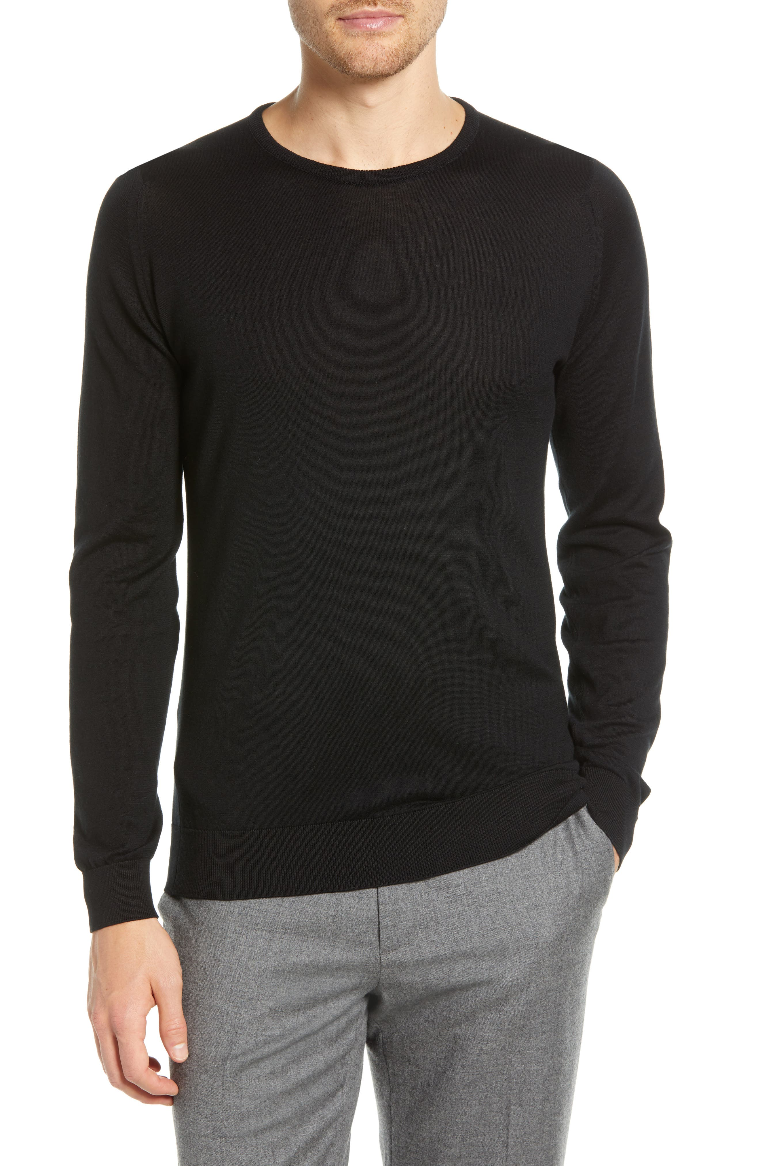 Crewneck Sweater,                             Main thumbnail 1, color,                             001
