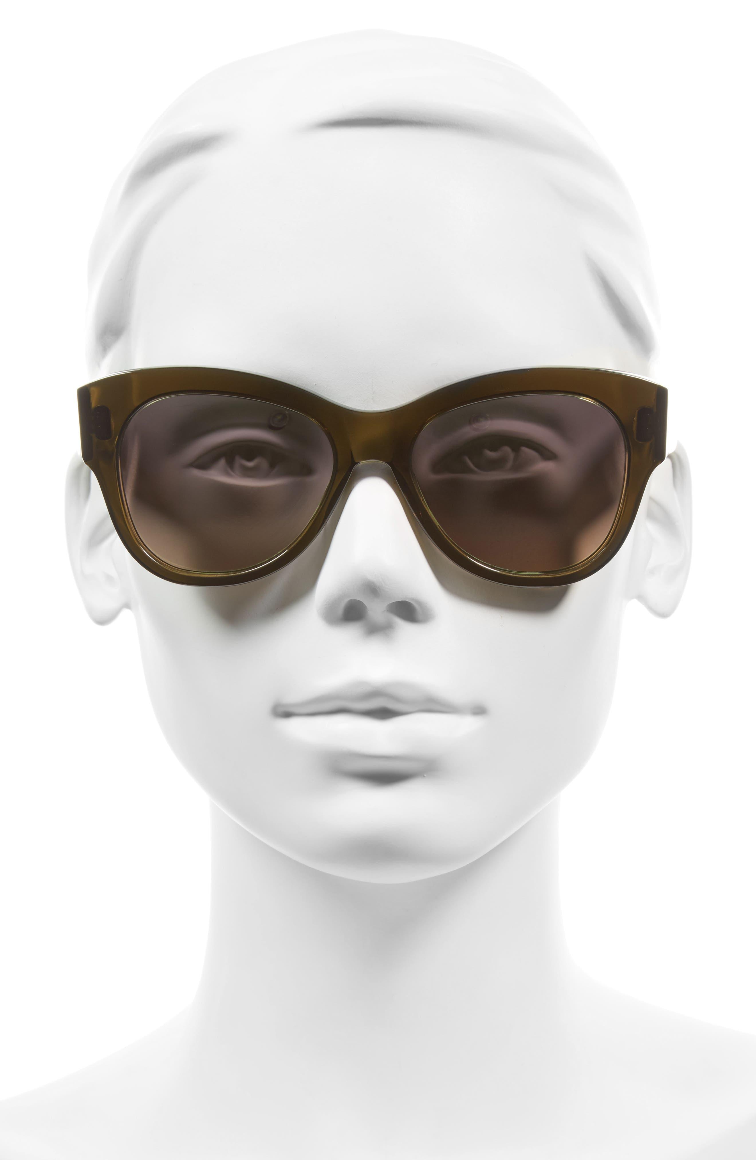 Hammen 54mm Polarized Cat Eye Sunglasses,                             Alternate thumbnail 2, color,                             DRIED HERB