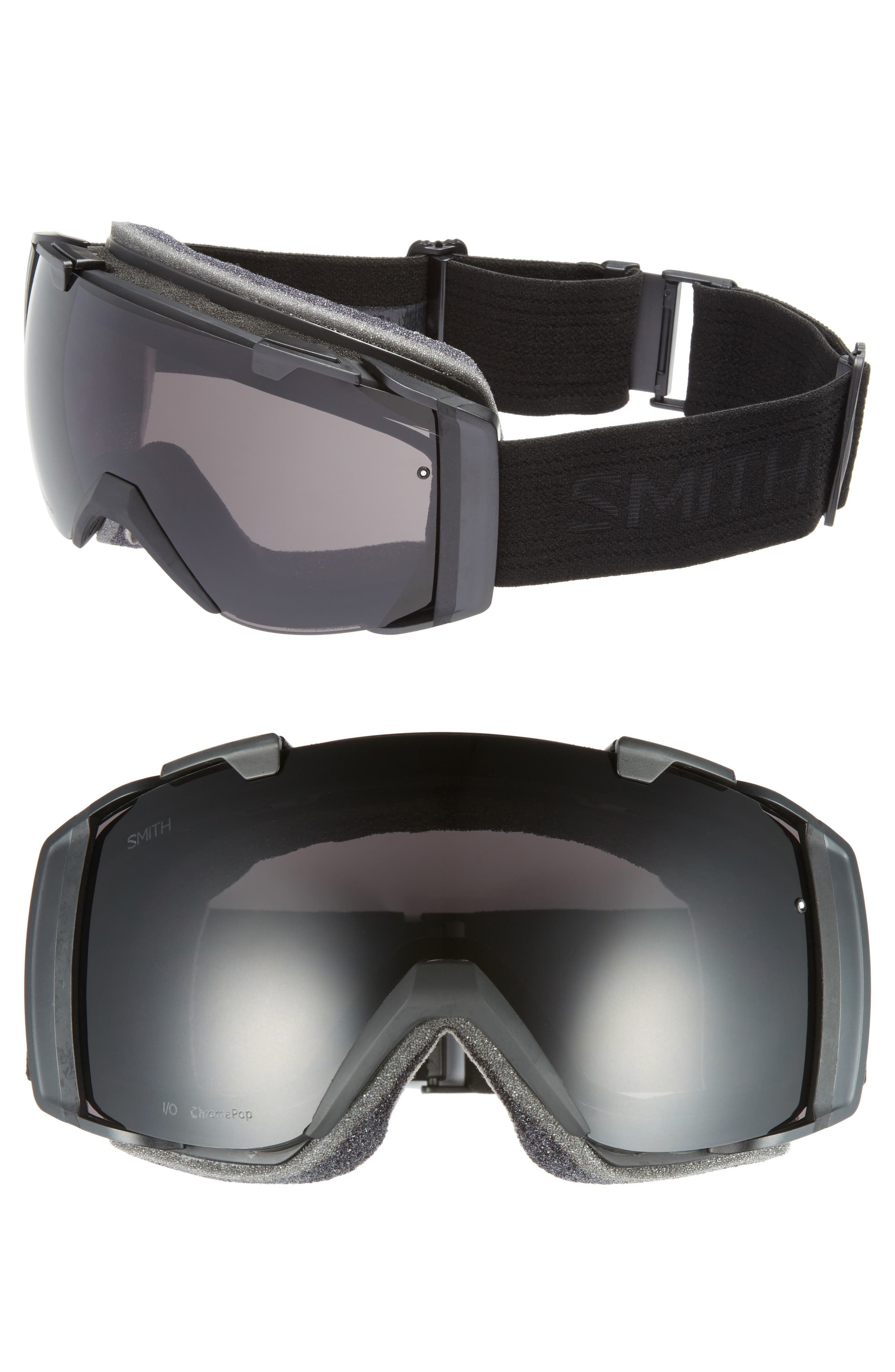 I/O 185mm Snow/Ski Goggles,                         Main,                         color, BLACKOUT/ MIRROR